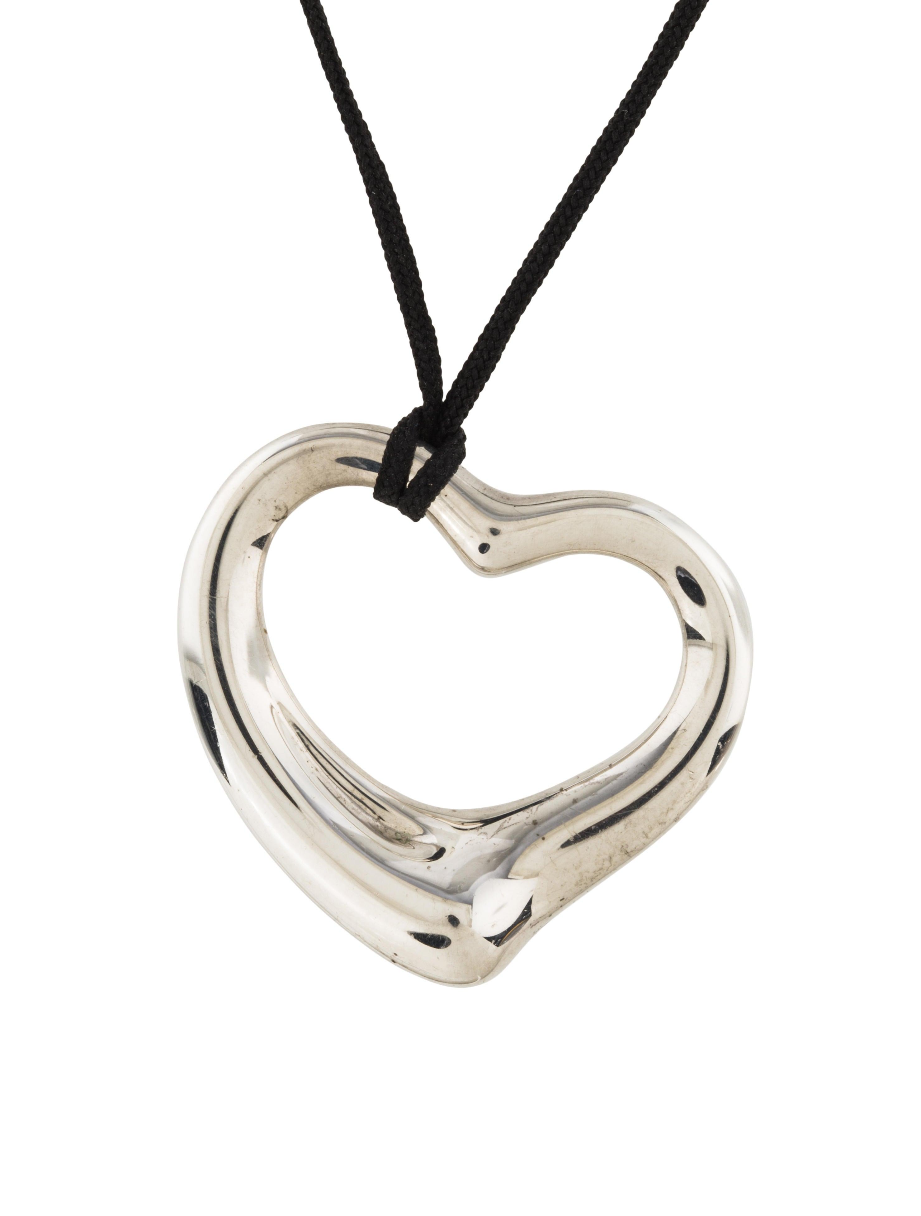 tiffany co open heart pendant necklace necklaces. Black Bedroom Furniture Sets. Home Design Ideas