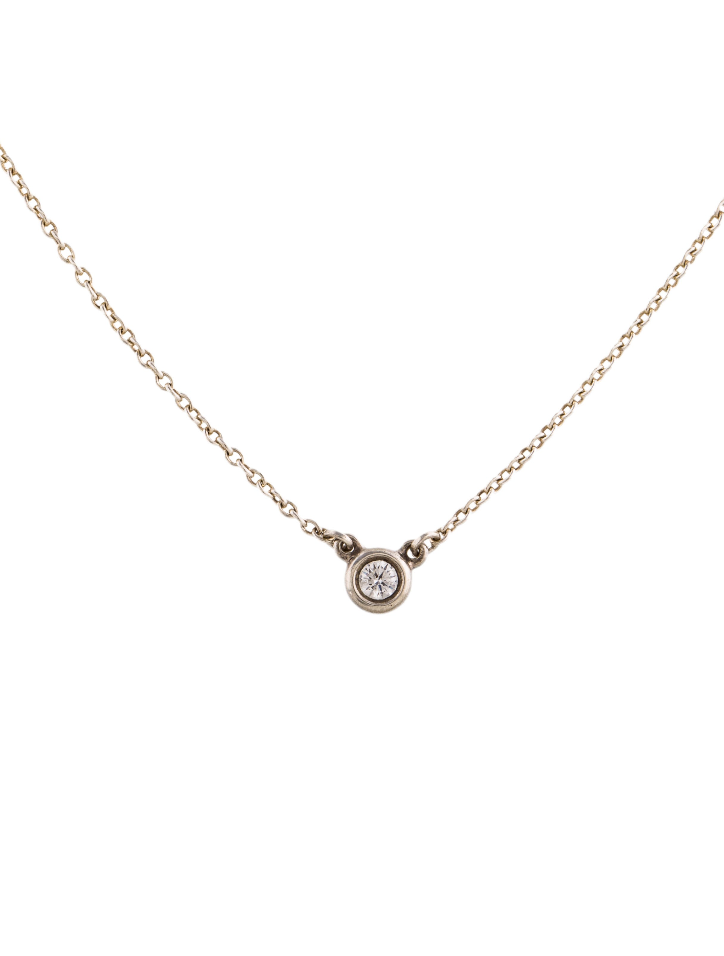 Tiffany co diamonds by the yard pendant necklace for Diamonds by the yard ring