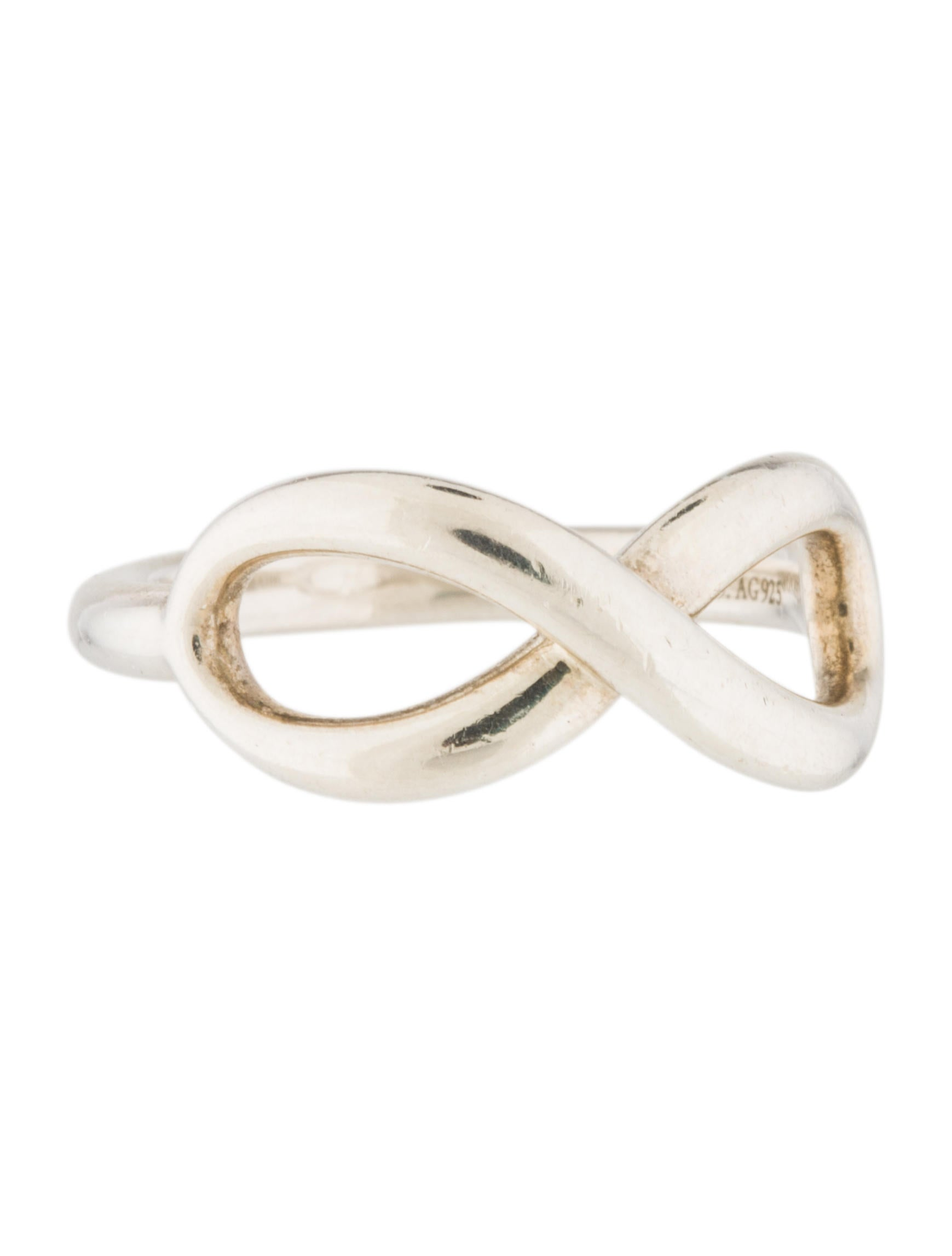 tiffany amp co infinity ring rings tif57580 the realreal