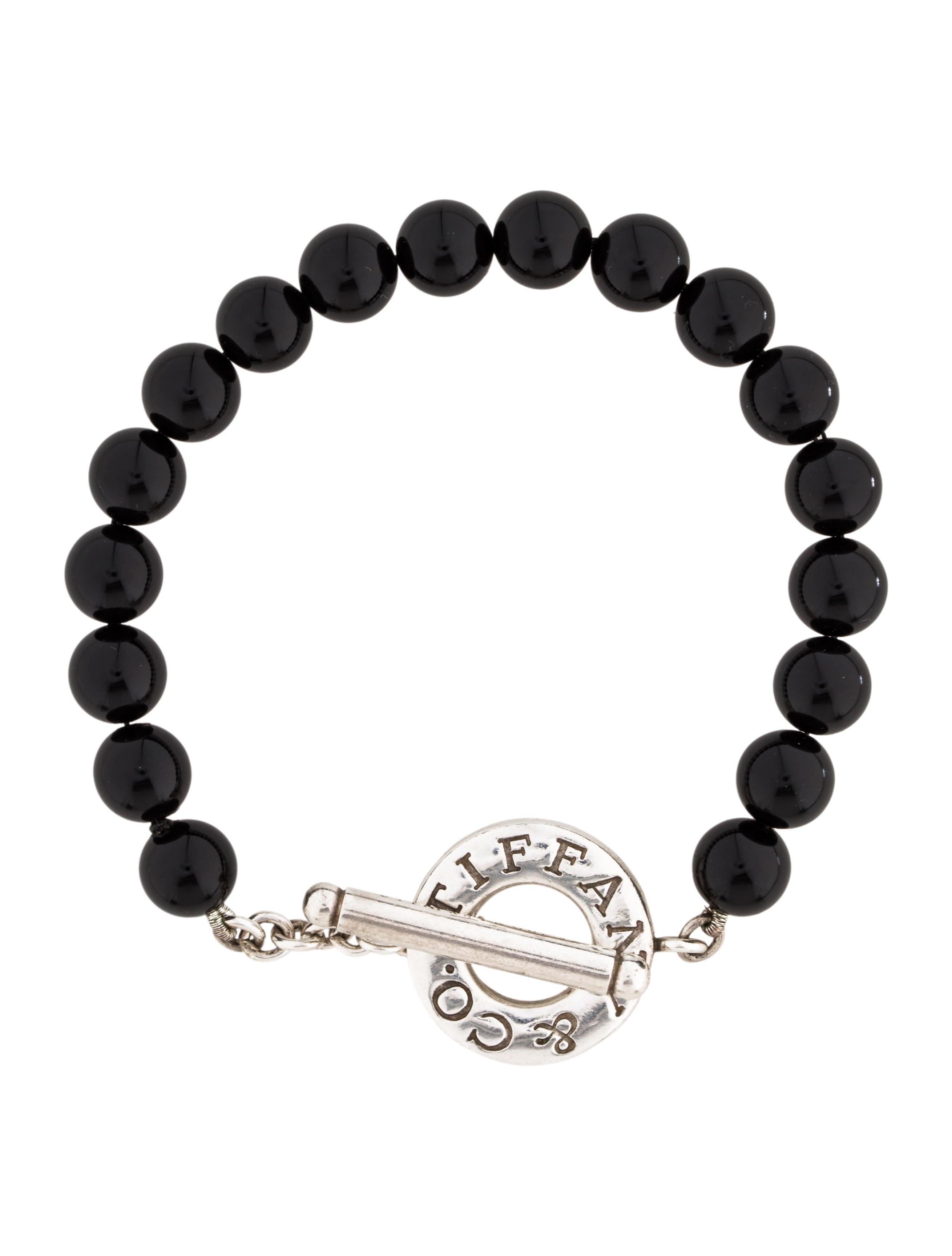 Tiffany Amp Co Onyx Bead Bracelet Bracelets Tif57614