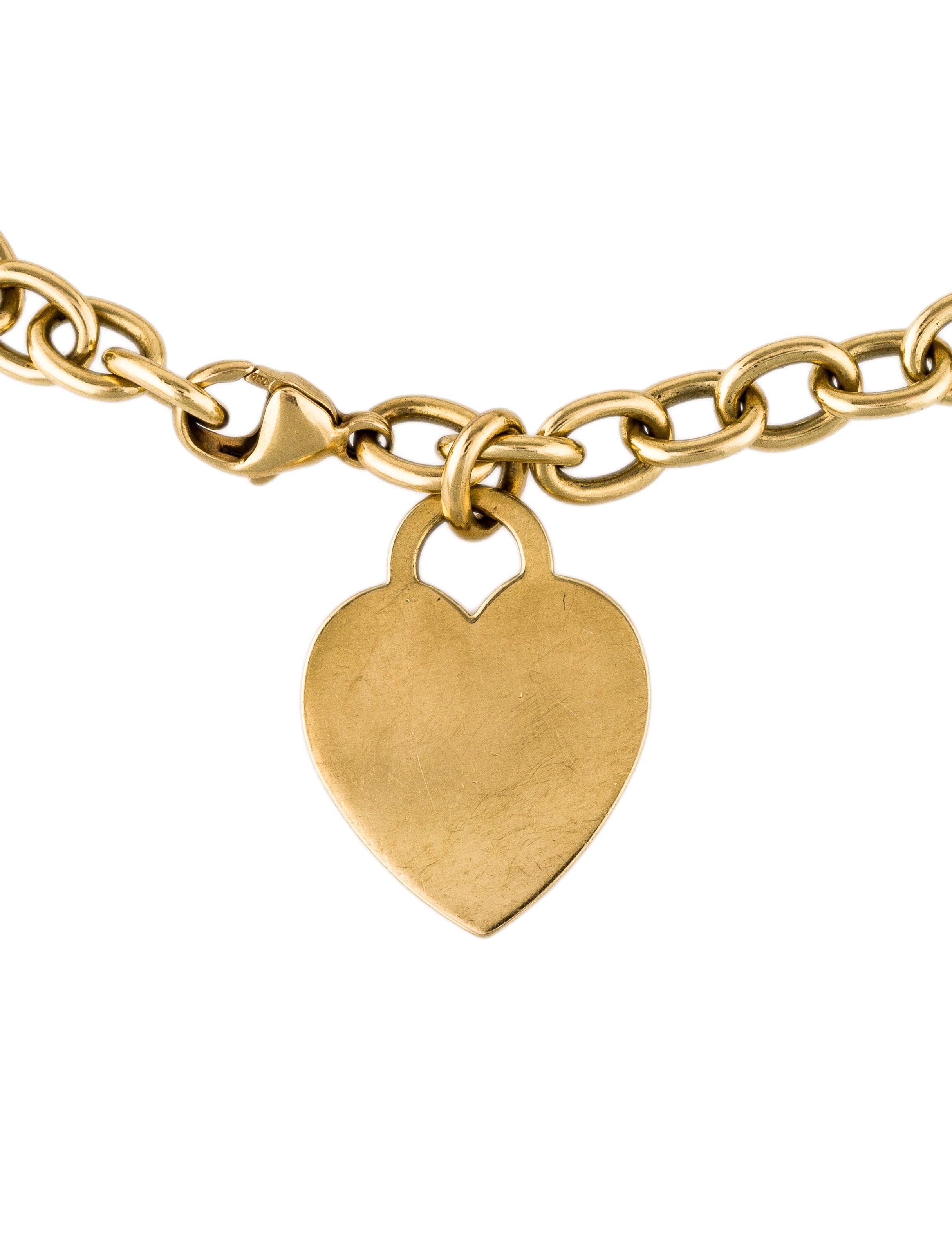 Tiffany & Co. 18K Heart Tag Charm Bracelet - Bracelets - TIF57939   The RealReal