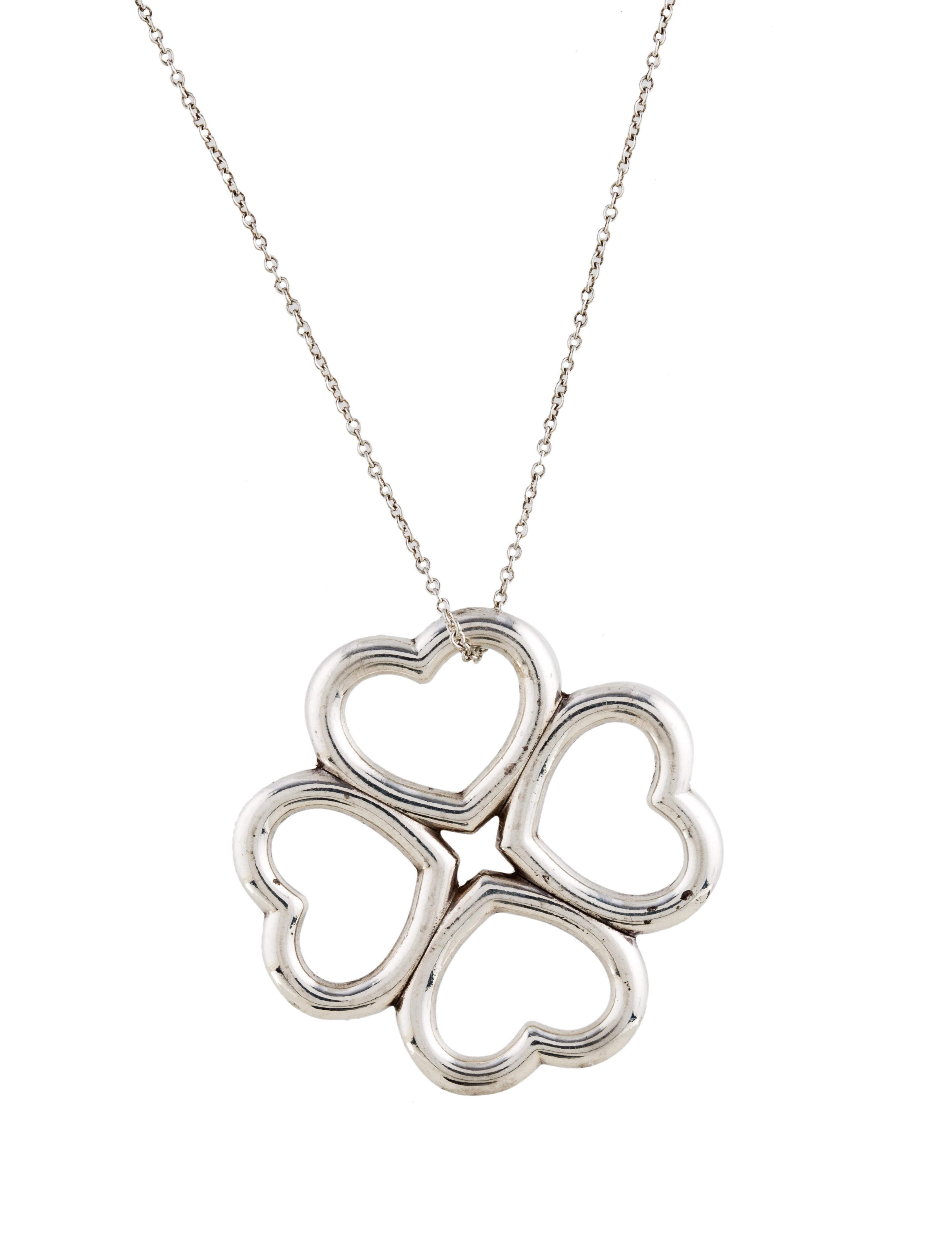 Tiffany co four hearts clover pendant necklace necklaces four hearts clover pendant necklace aloadofball Image collections