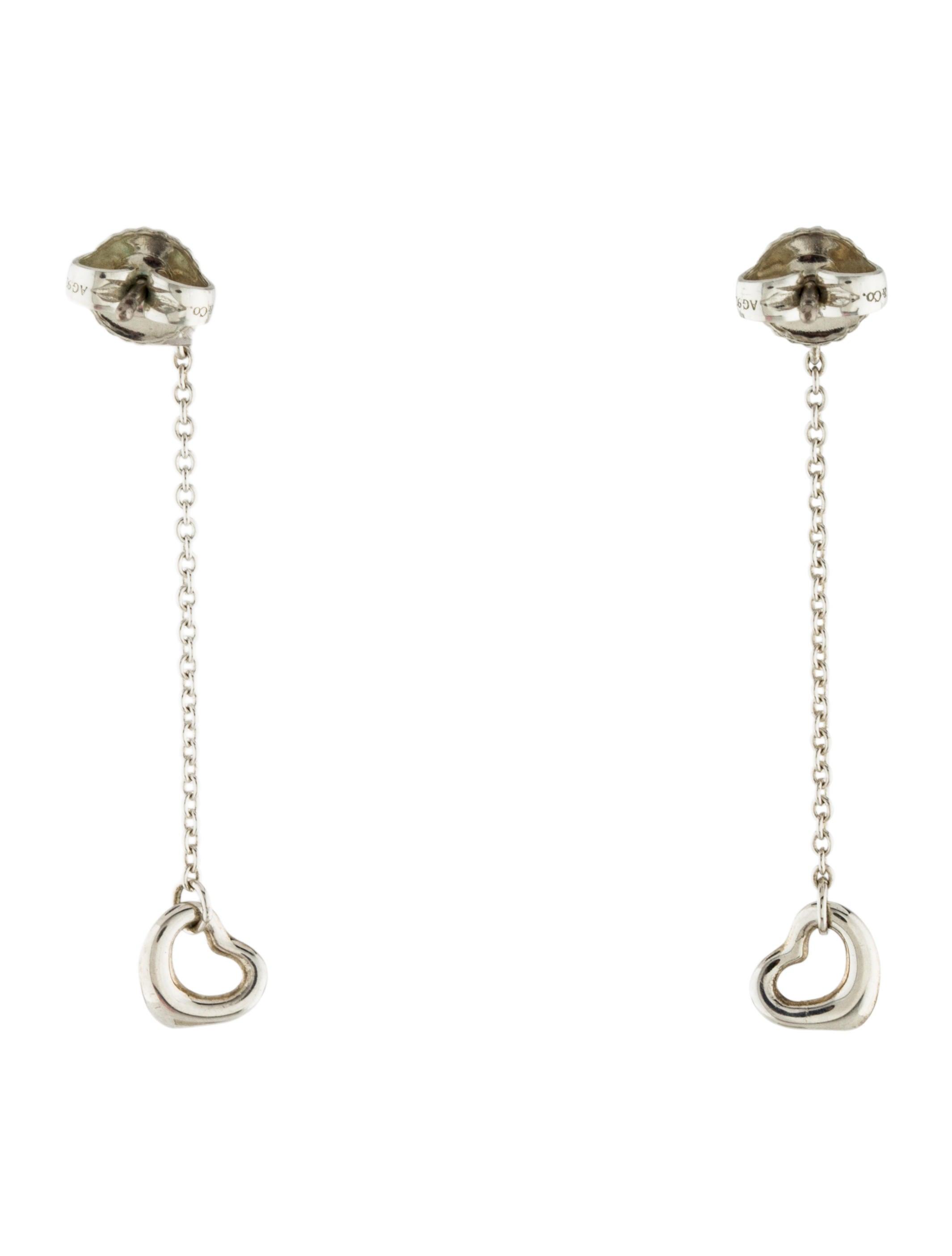 Tiffany co diamonds by the yard open heart earrings for Diamonds by the yard ring