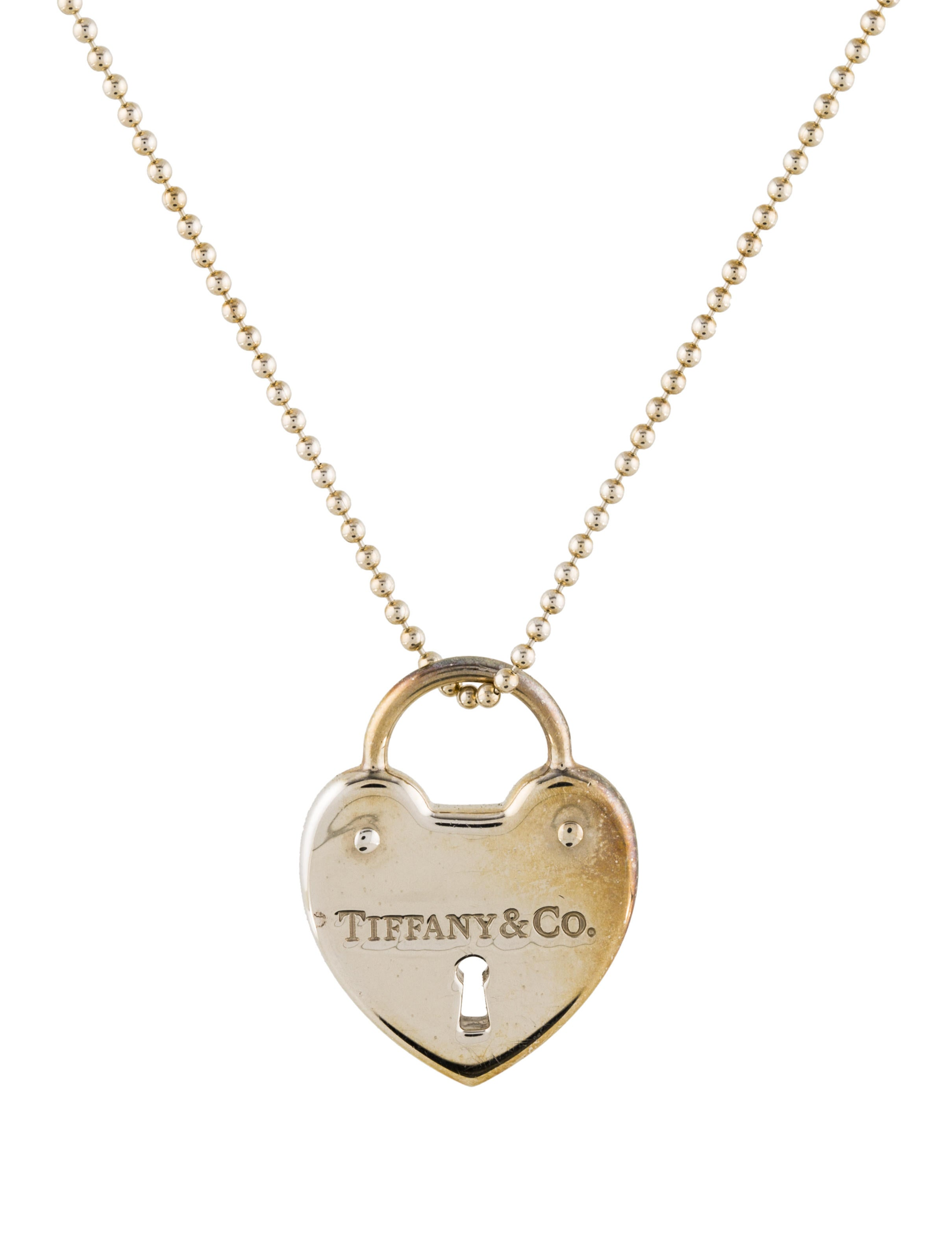 Tiffany Amp Co Heart Lock Pendant Necklace Necklaces