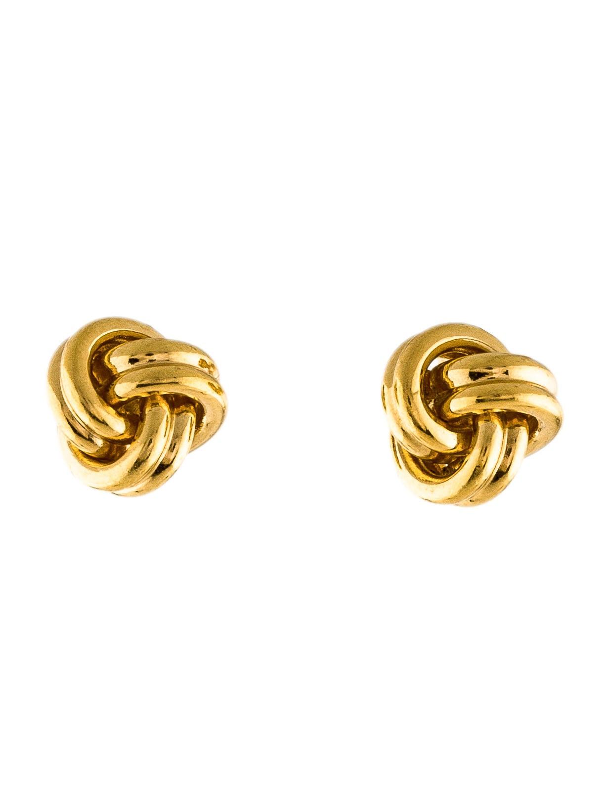Tiffany Amp Co 18k Knot Stud Earrings Earrings Tif58571