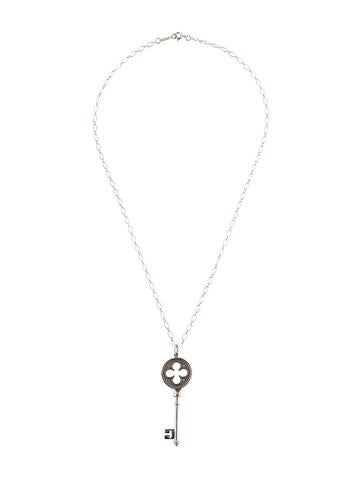 0d9ae9d95 Tiffany & Co. 18K Diamond Clover Key Pendant Necklace - Necklaces -  TIF58611 | The RealReal