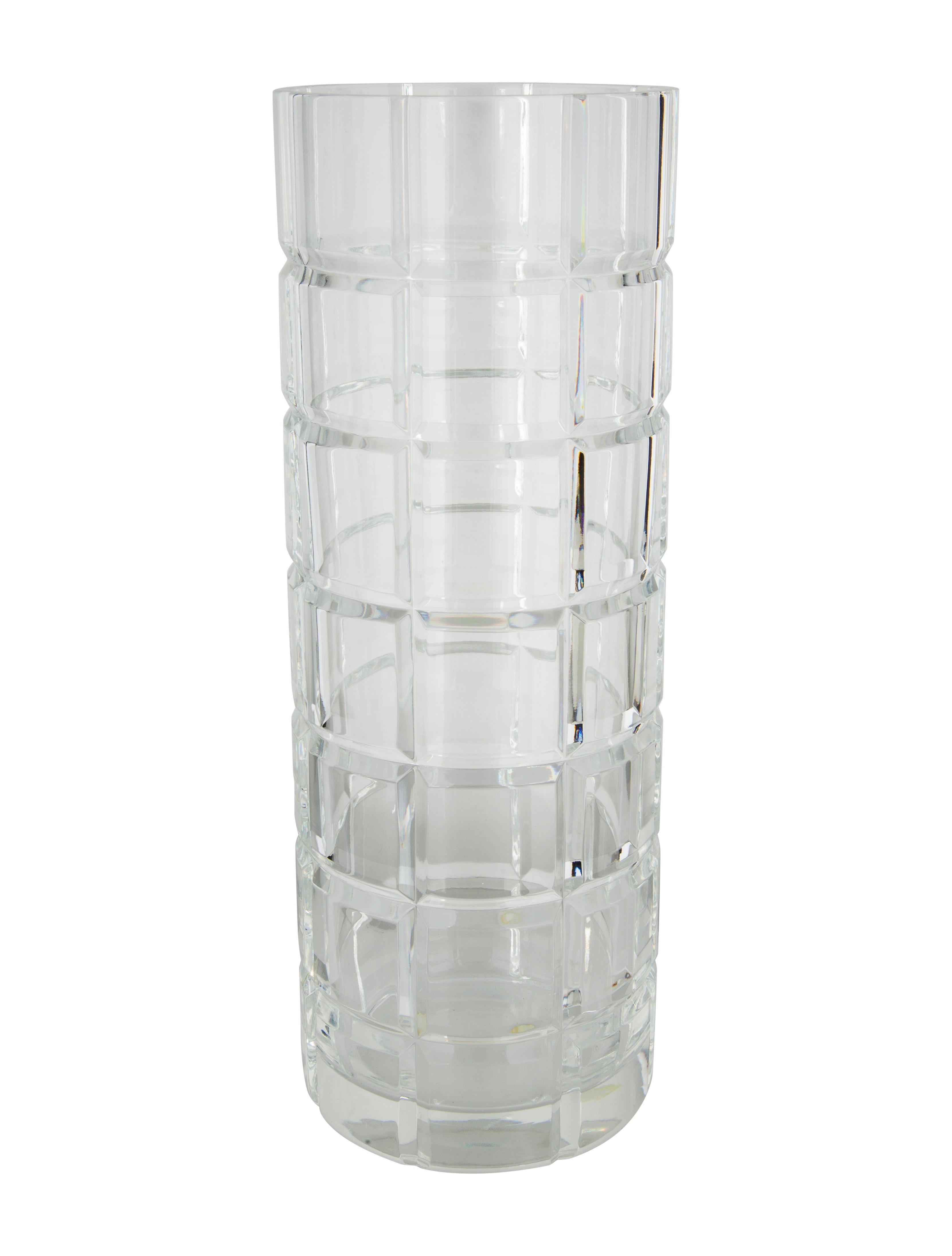 Tiffany co large crystal cylinder vase decor and accessories large crystal cylinder vase reviewsmspy