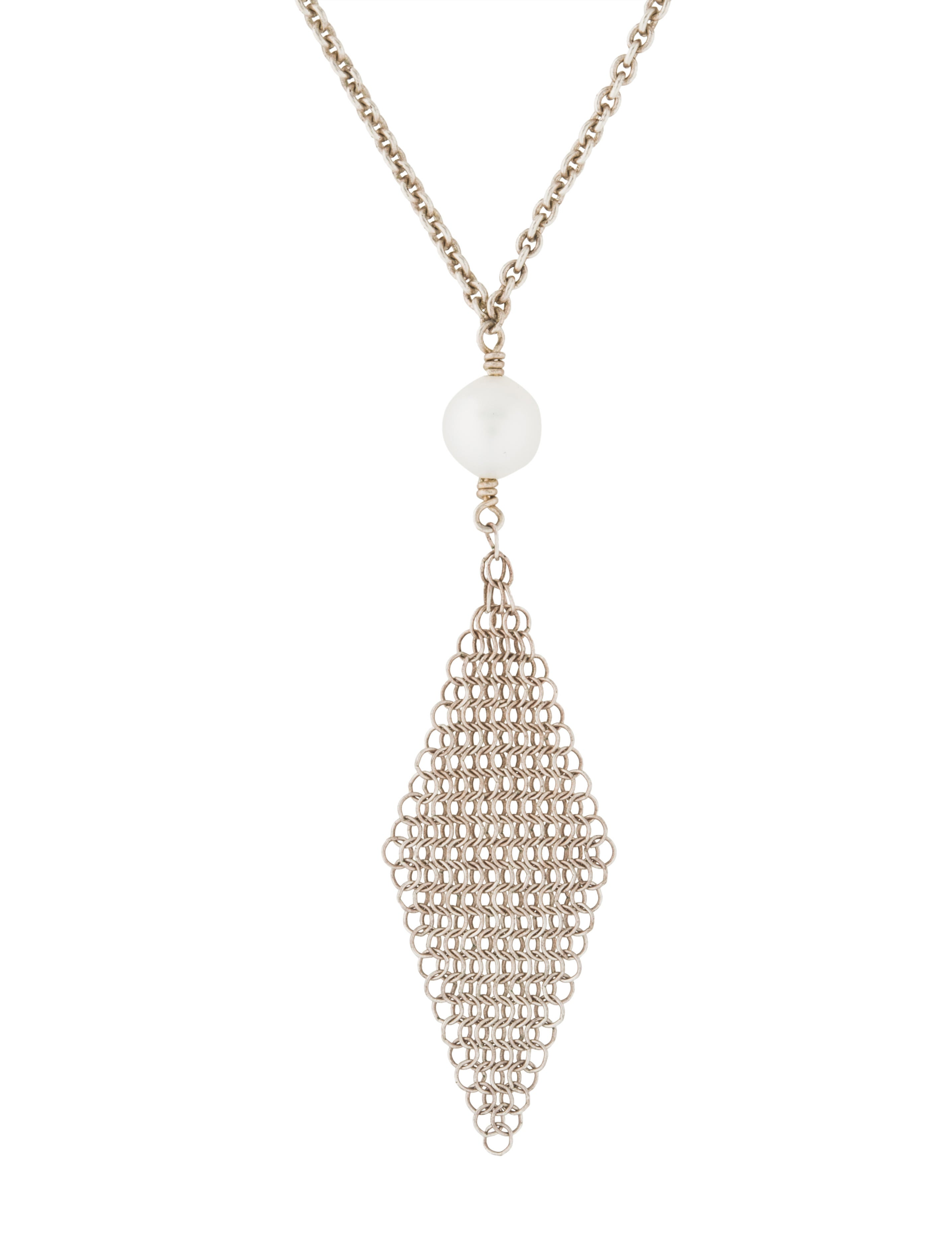 610b20425 Tiffany & Co. Pearl Mesh Tassel Pendant Necklace - Necklaces ...
