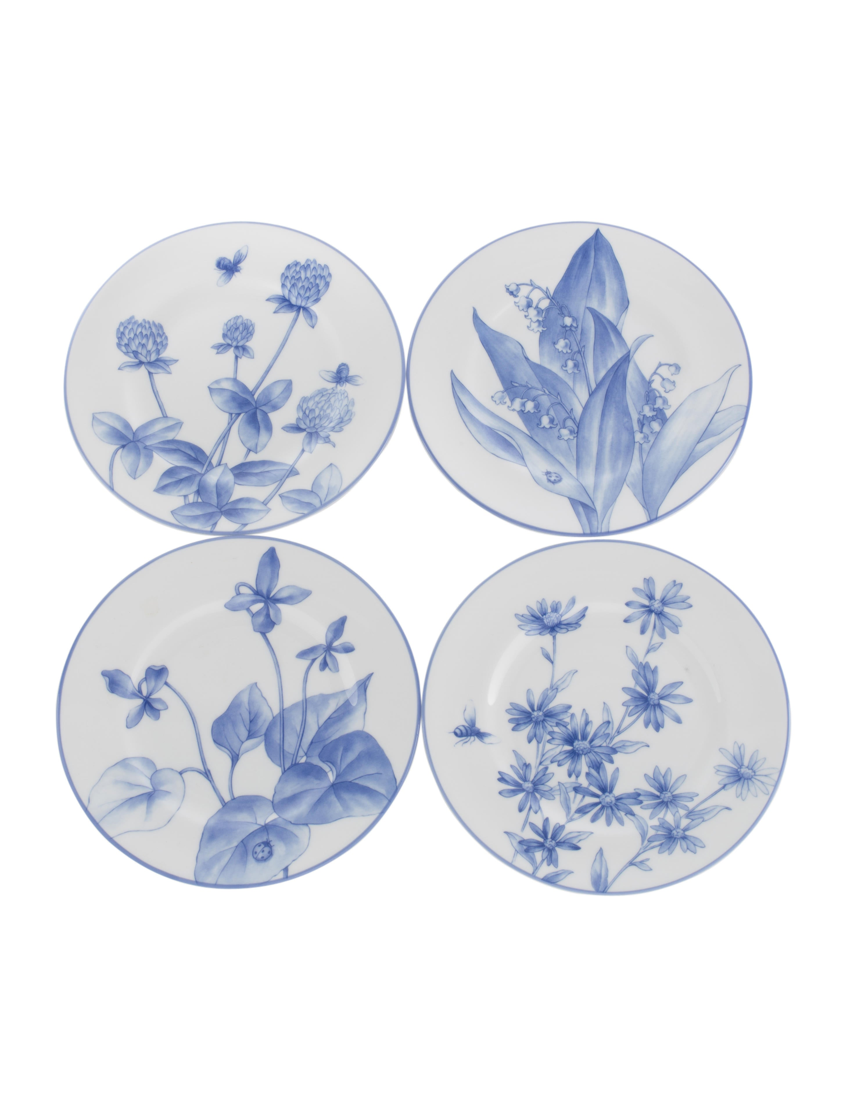 Tiffany & Co. 8-Piece Tiffany Nature Plate Set - Tabletop And ...