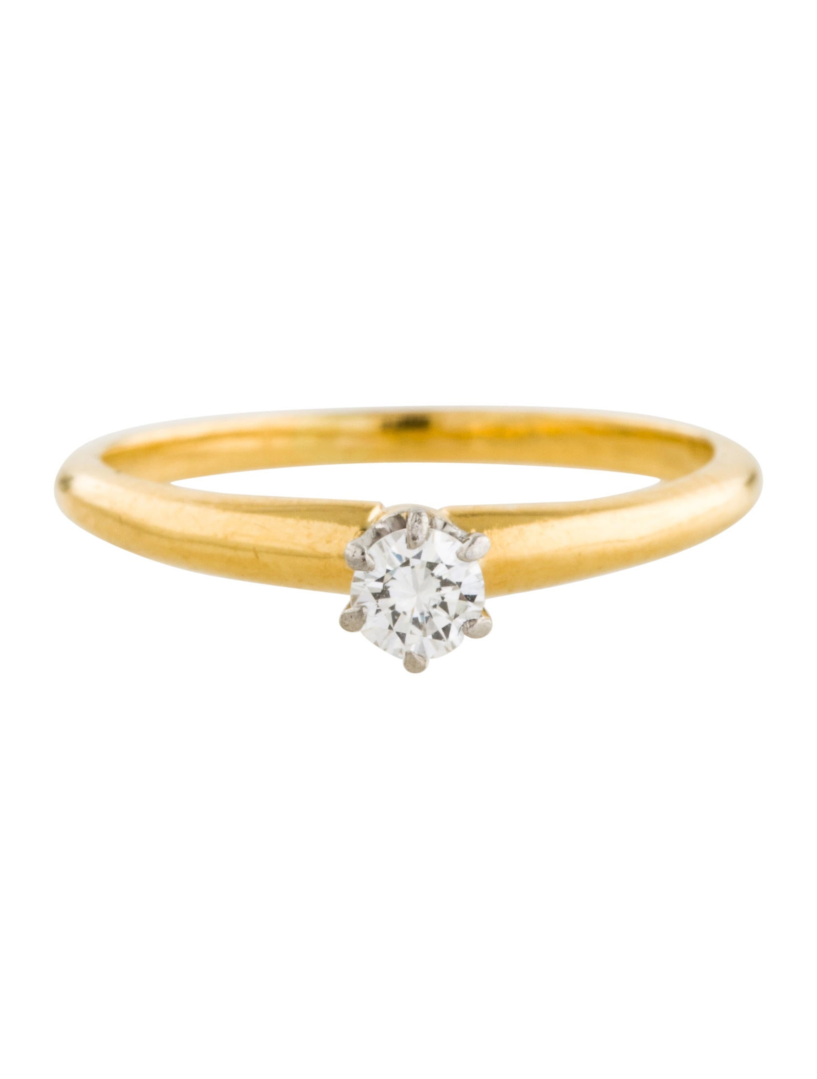 tiffany co 18k tiffany engagement ring rings tif59142 the realreal. Black Bedroom Furniture Sets. Home Design Ideas