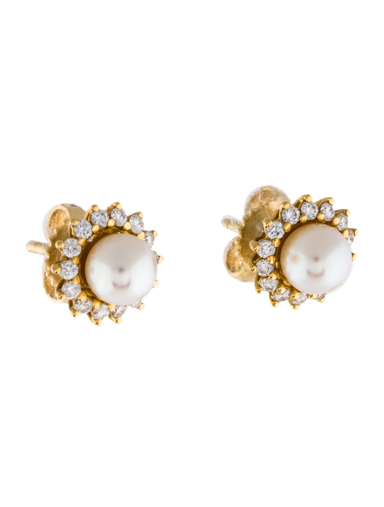 Tiffany & Co 18k Pearl & Diamond Stud Earrings  Earrings. Virgin Mary Medallion. Seiko 4402 Medallion. 50th Wedding Medallion. Etsy Medallion. Anchor Medallion. Mary Pendant Medallion. Jewelry Medallion. Glass Medallion