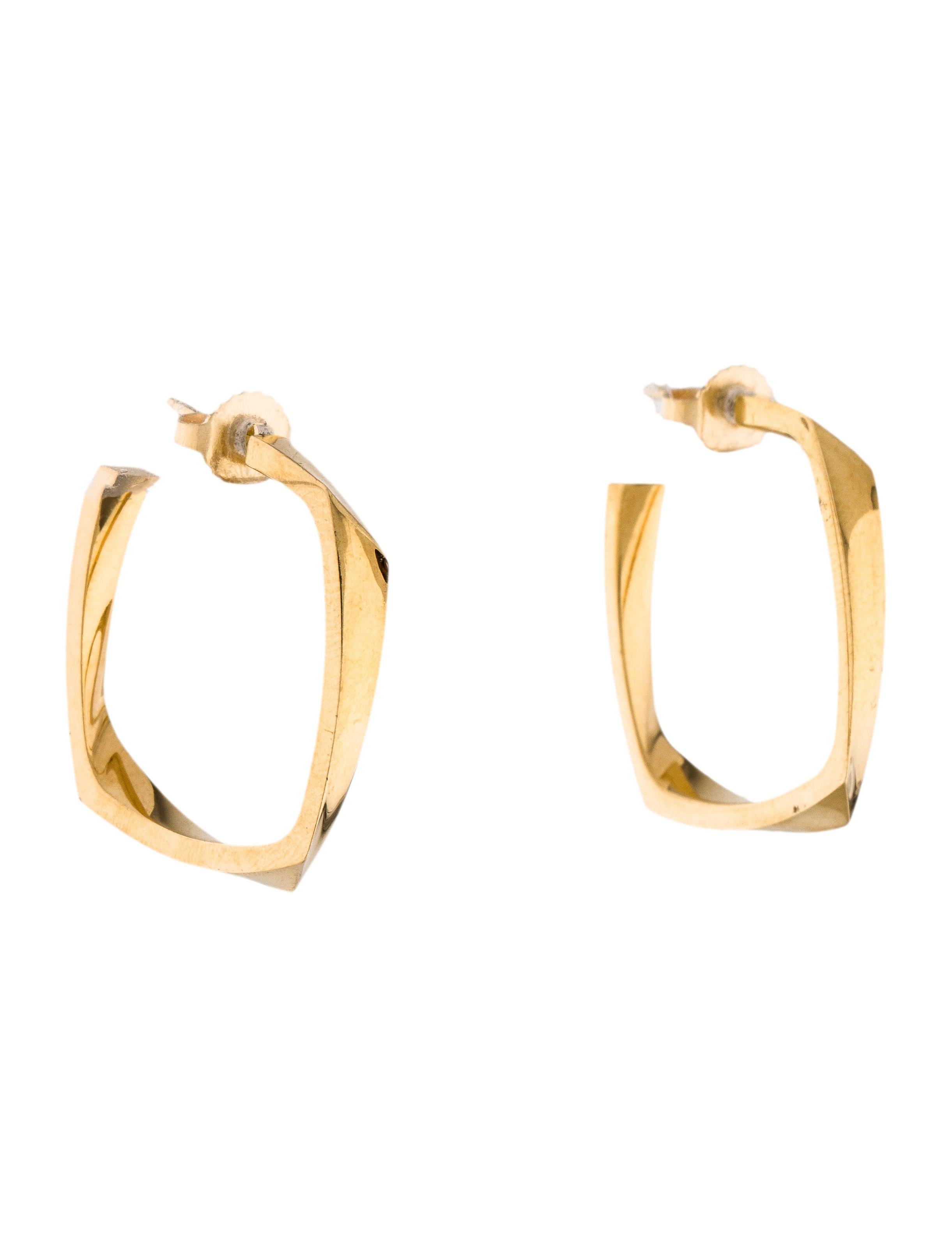 ff519ada6 Tiffany & Co. 18K Torque Hoop Earrings - Earrings - TIF60038 | The RealReal