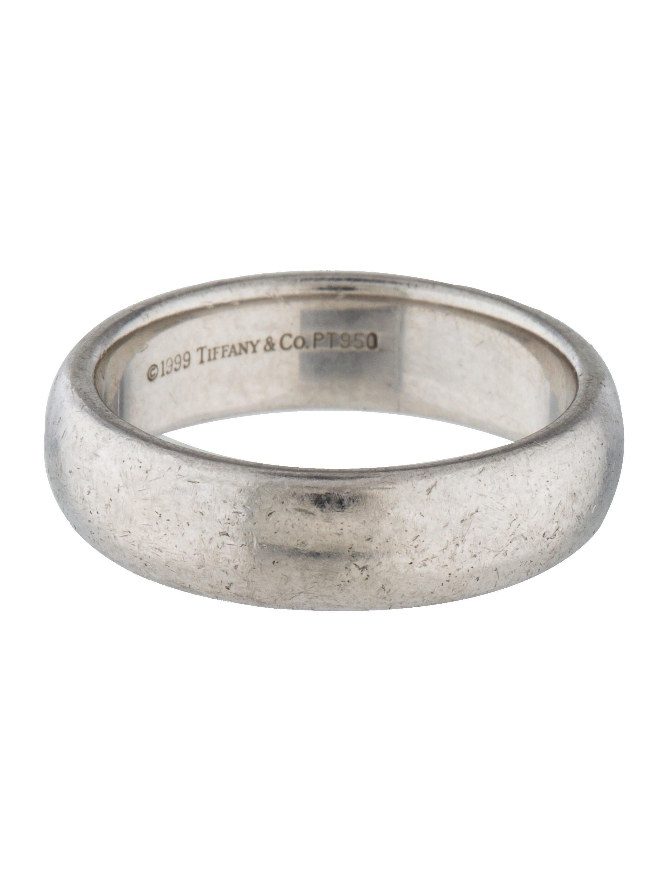 Tiffany Co Platinum Wedding Ring Rings TIF60573 The RealReal