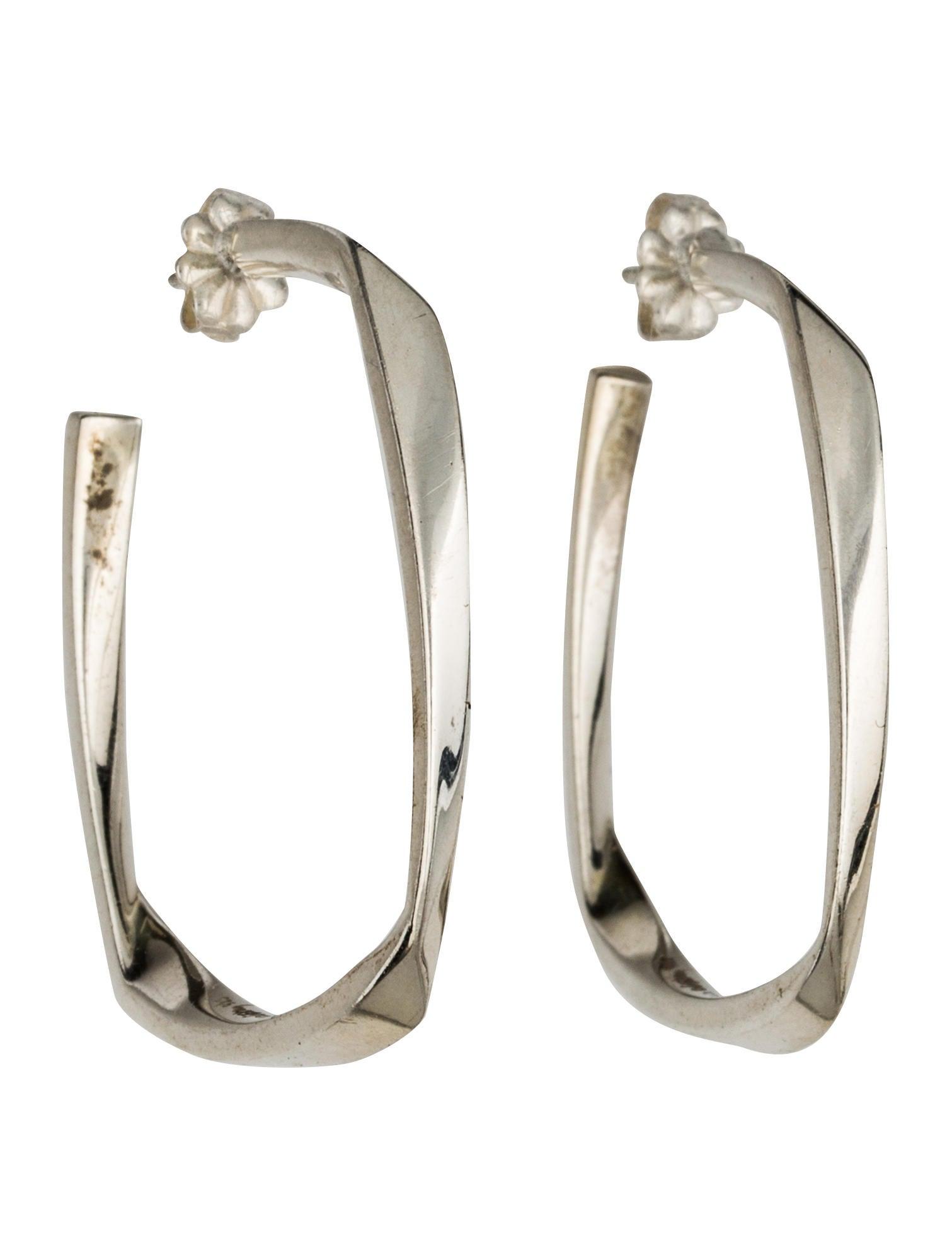 b87892bfb Tiffany & Co. Torque Hoop Earrings - Earrings - TIF61246 | The RealReal
