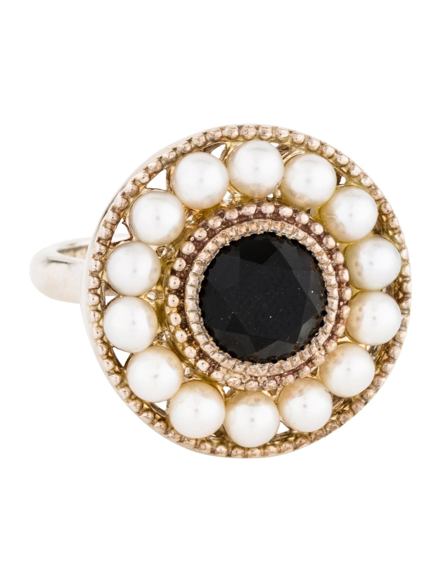 51bf47d12 Tiffany & Co. Ziegfeld Onyx & Pearl Cocktail Ring - Rings - TIF61461 ...
