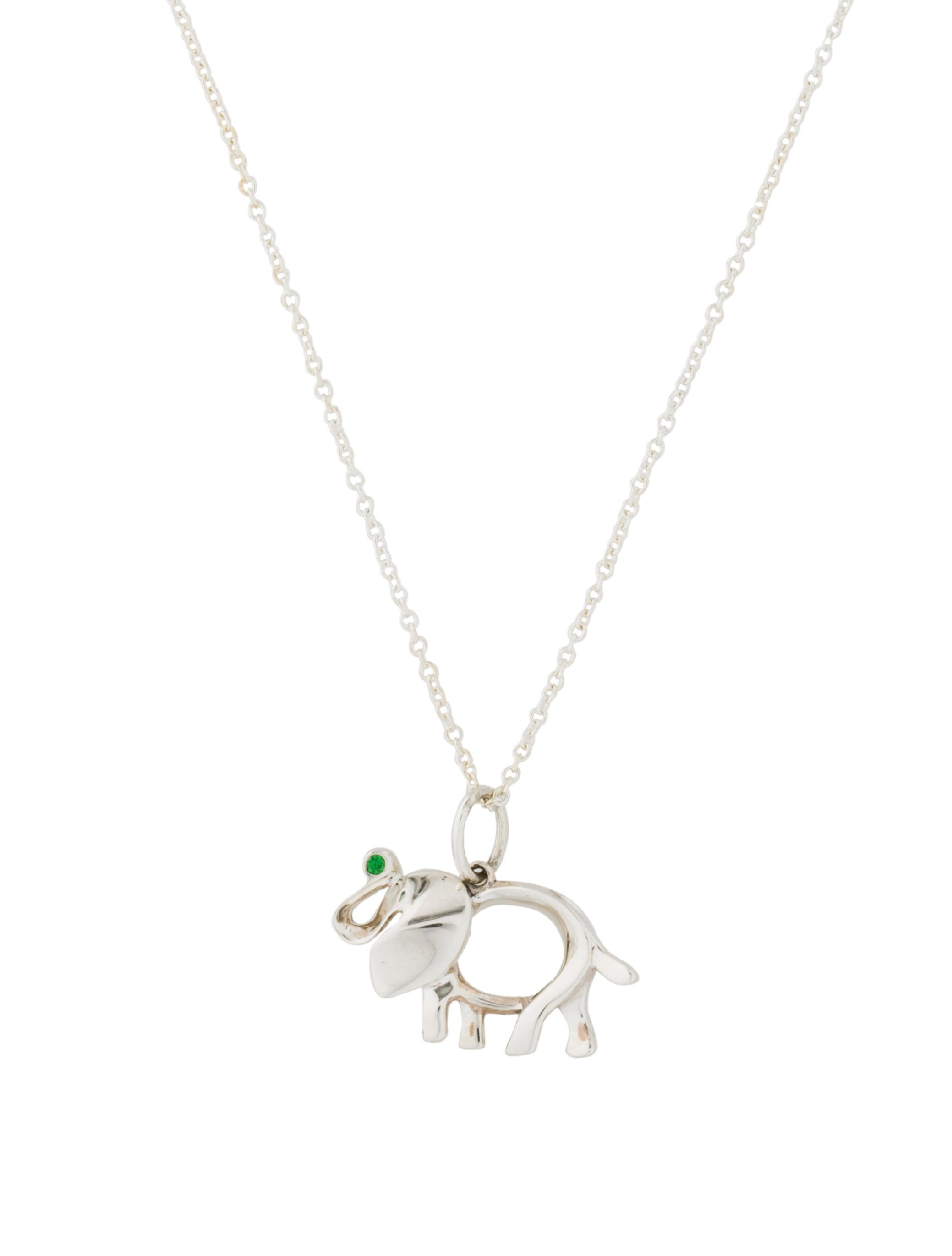 fdb3b4f83127 Tiffany   Co. Tsavorite Elephant Save The Wild Necklace - Necklaces ...
