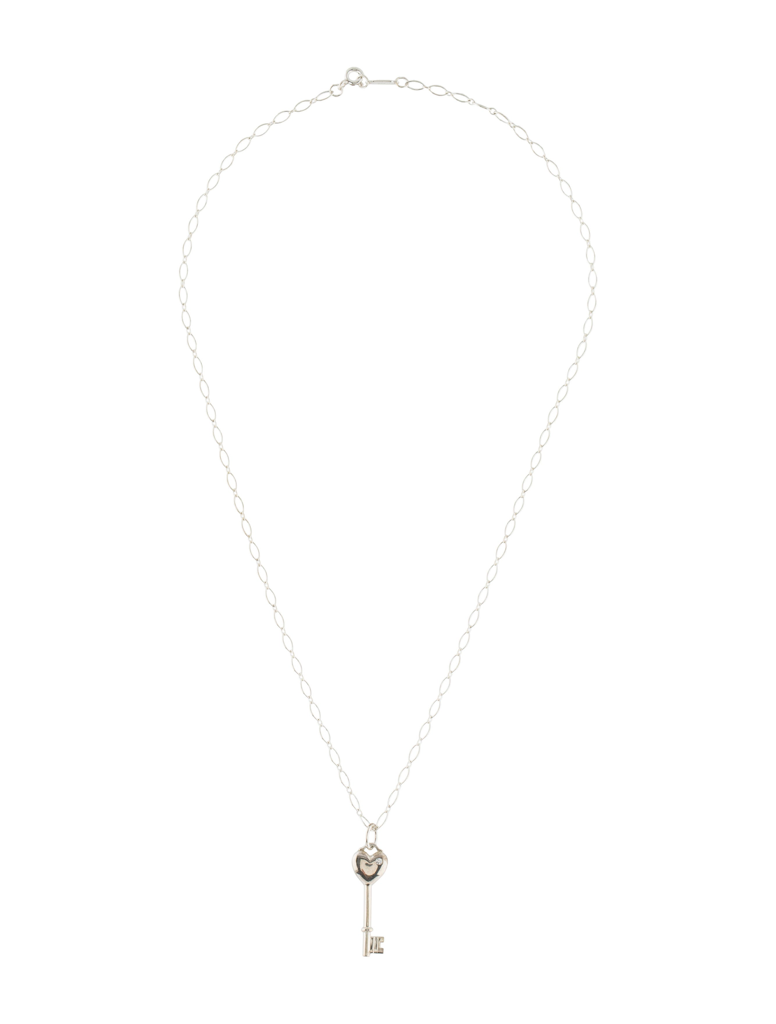 Tiffany co diamond heart key pendant necklace necklaces diamond heart key pendant necklace aloadofball Image collections