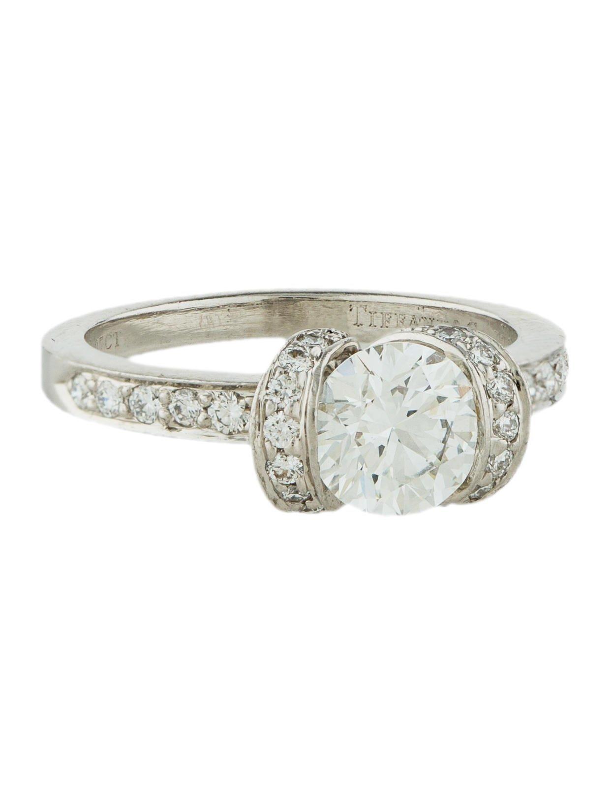 Tiffany Amp Co Platinum Diamond Engagement Ring Rings