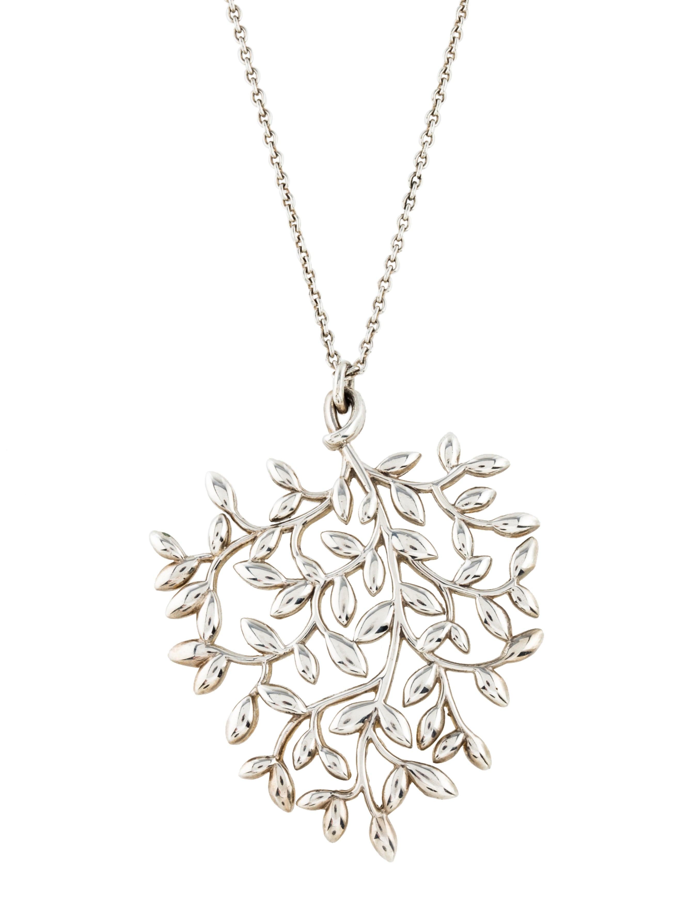 59a35a102 Tiffany & Co. Olive Leaf Pendant Necklace - Necklaces - TIF62223 ...