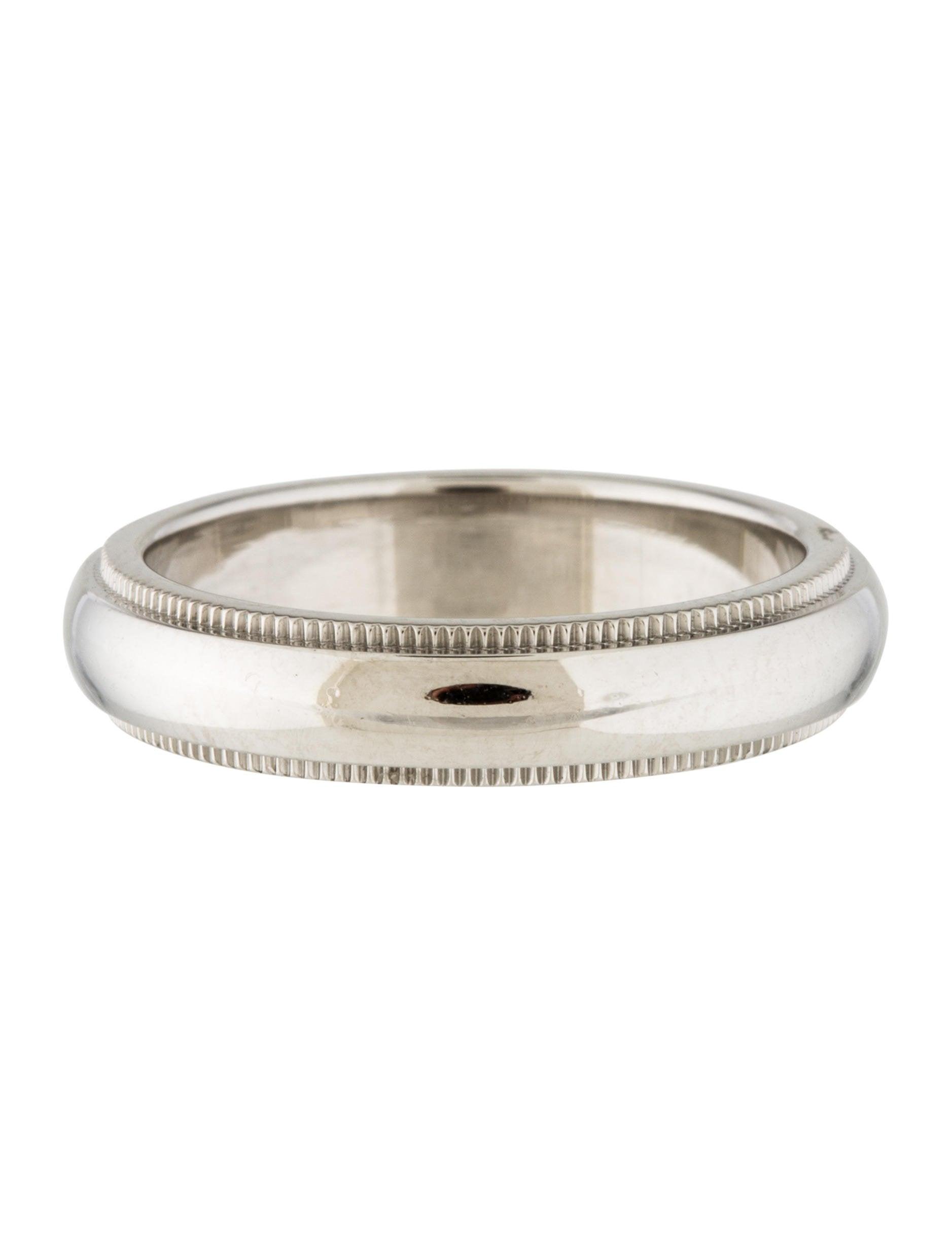 Tiffany Co Milgrain Wedding Band Ring Rings TIF62802 The