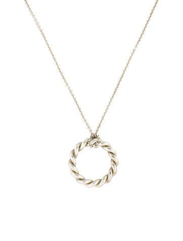 Tiffany & Co. Twist Circle Pendant Necklace None
