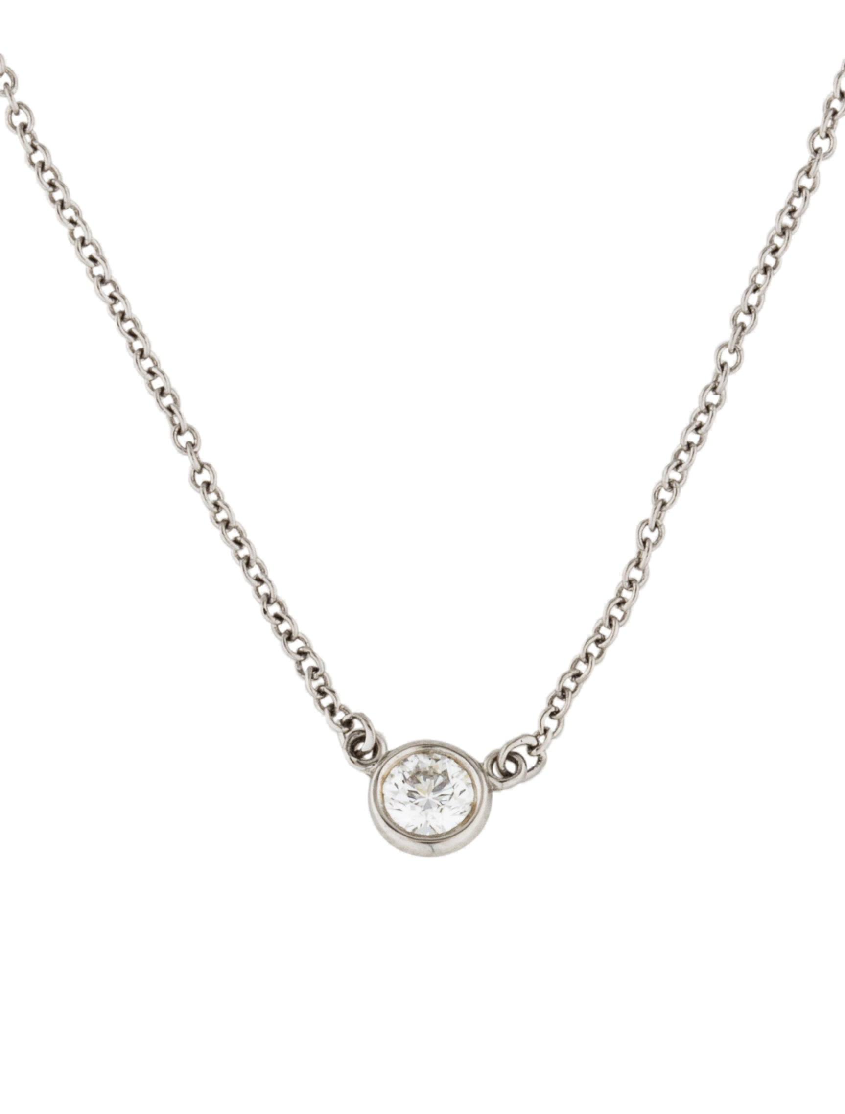 Tiffany co platinum diamonds by the yard pendant necklaces platinum diamonds by the yard pendant aloadofball Gallery