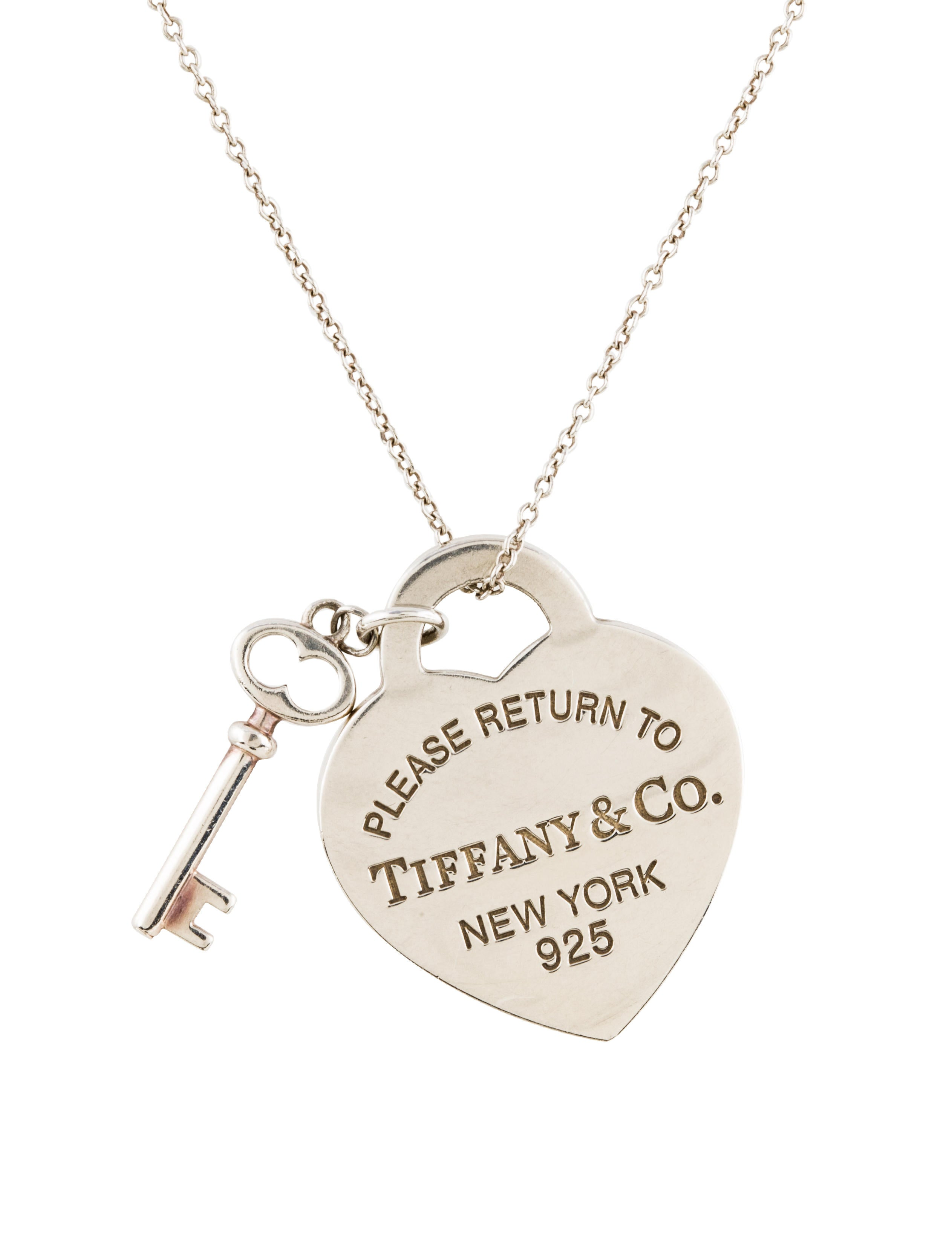 Tiffany co heart tag with key pendant necklace necklaces heart tag with key pendant necklace aloadofball Gallery