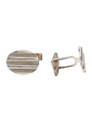 Tiffany & Co. Ribbed Oval Cufflinks None