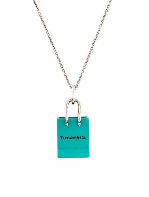 1361bb6f6 Tiffany & Co. Shopping Bag Charm Necklace - Necklaces - TIF63577 ...