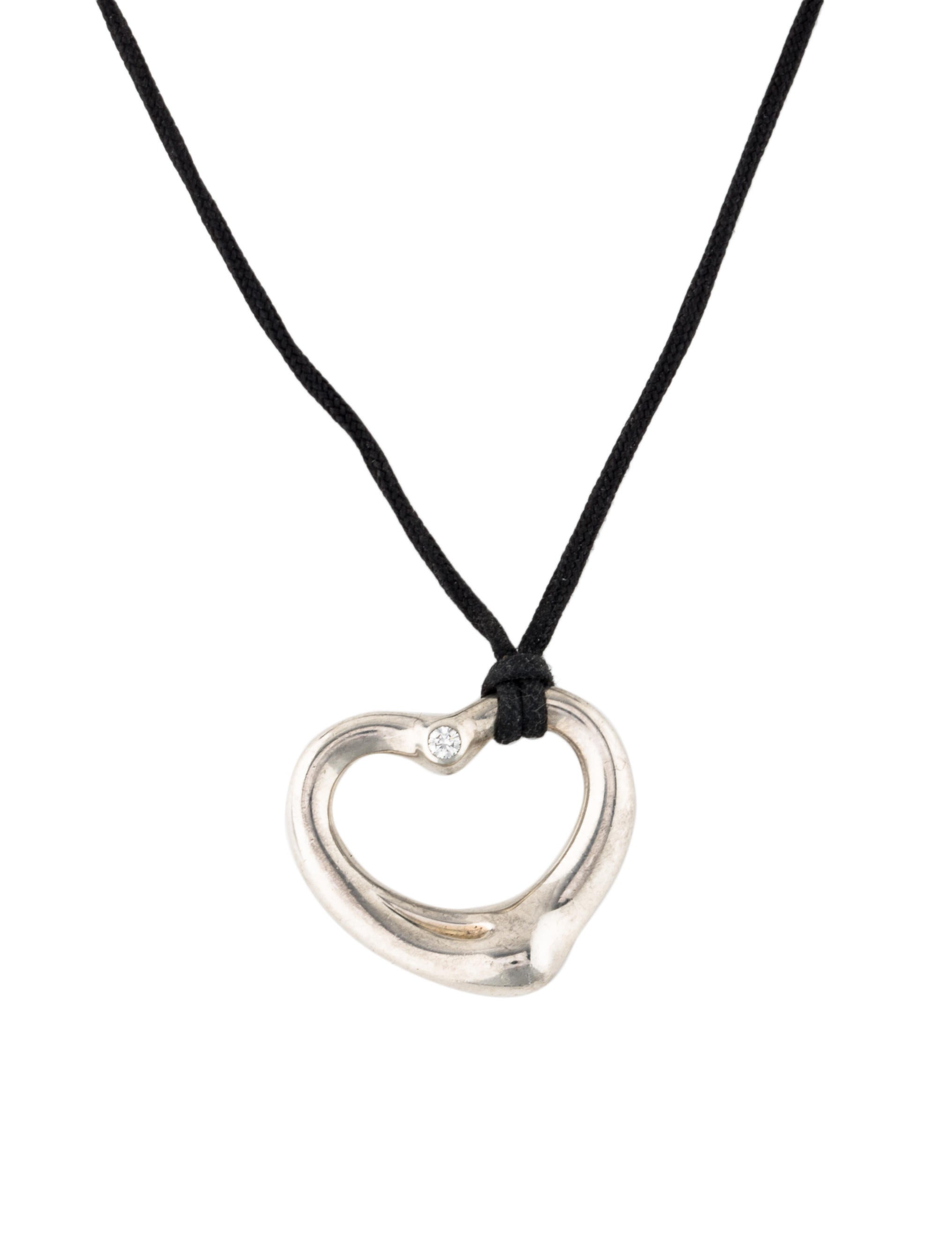neon open s pendant heart necklace claire