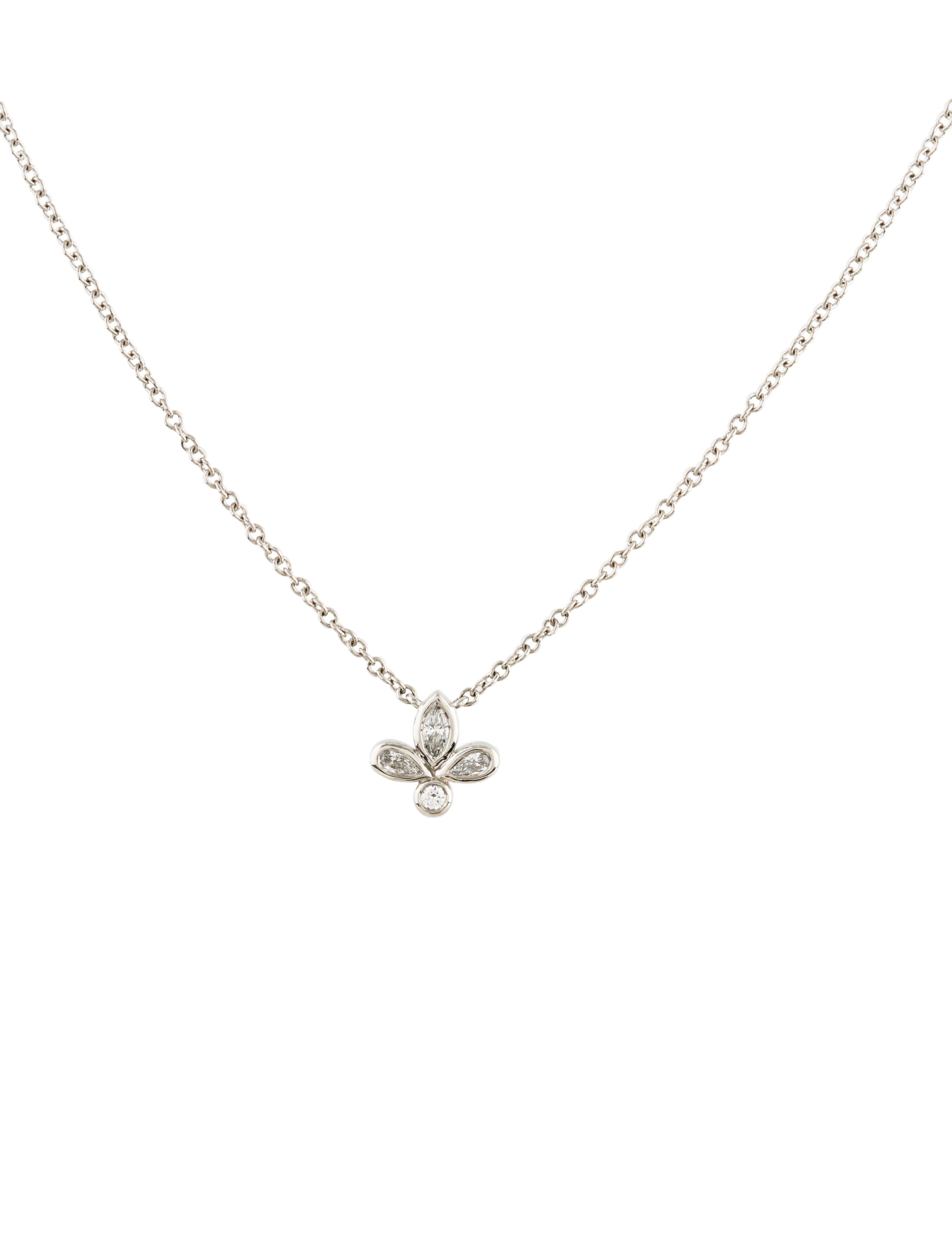 Tiffany co diamond fleur de lis pendant necklace necklaces diamond fleur de lis pendant necklace aloadofball Choice Image