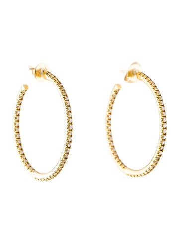 tiffany amp co 18k diamond hoop earrings earrings