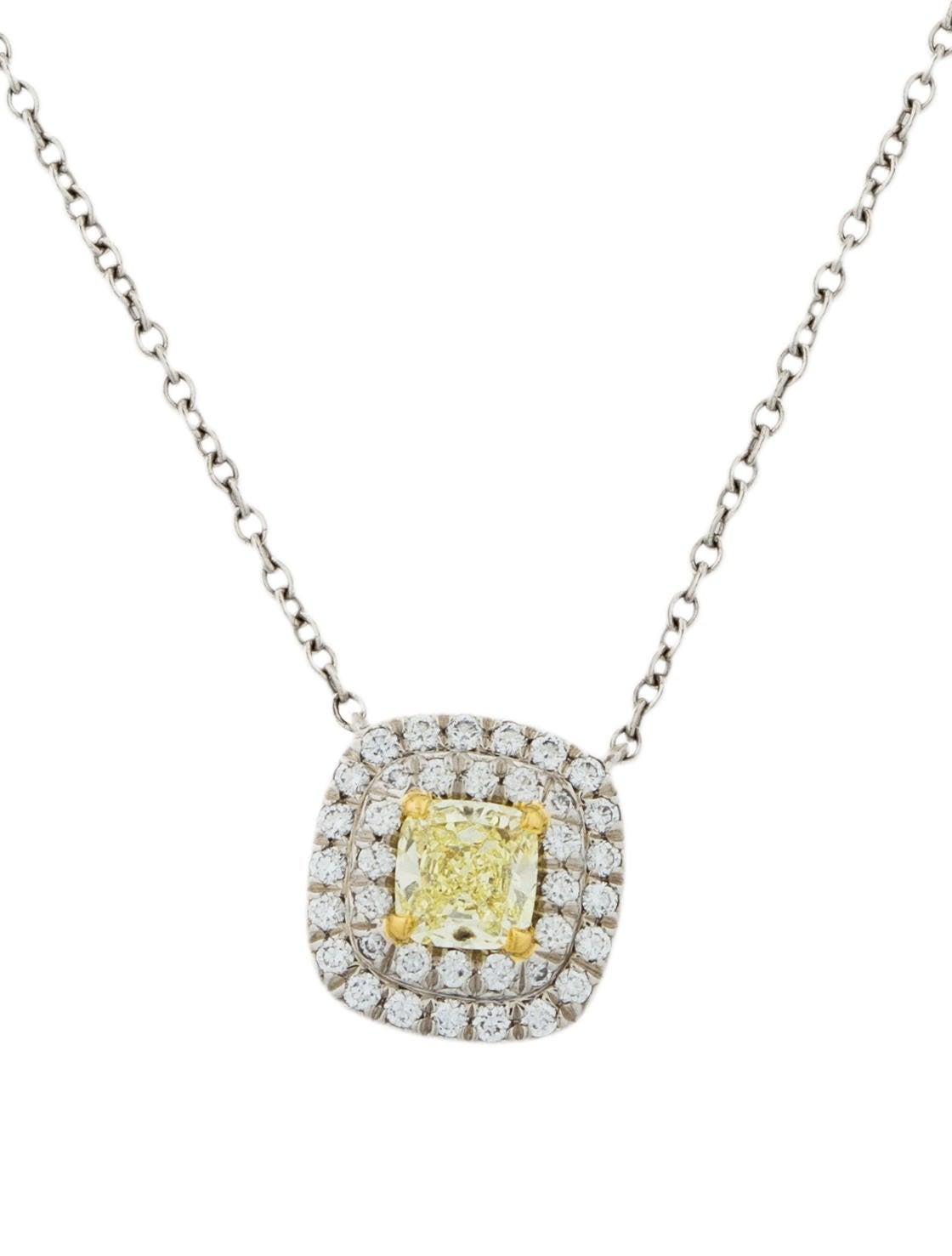 Tiffany co yellow diamond soleste pendant necklace necklaces yellow diamond soleste pendant necklace aloadofball Gallery