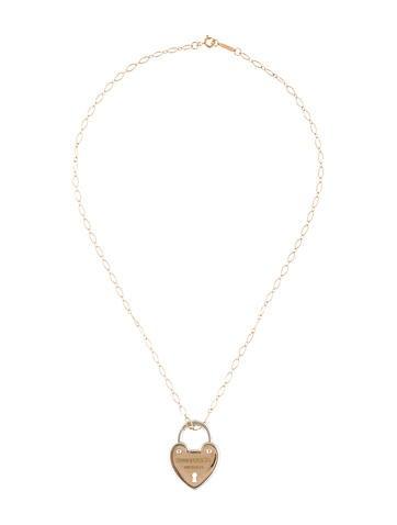 Tiffany co two tone heart lock pendant necklace necklaces two tone heart lock pendant necklace aloadofball Gallery