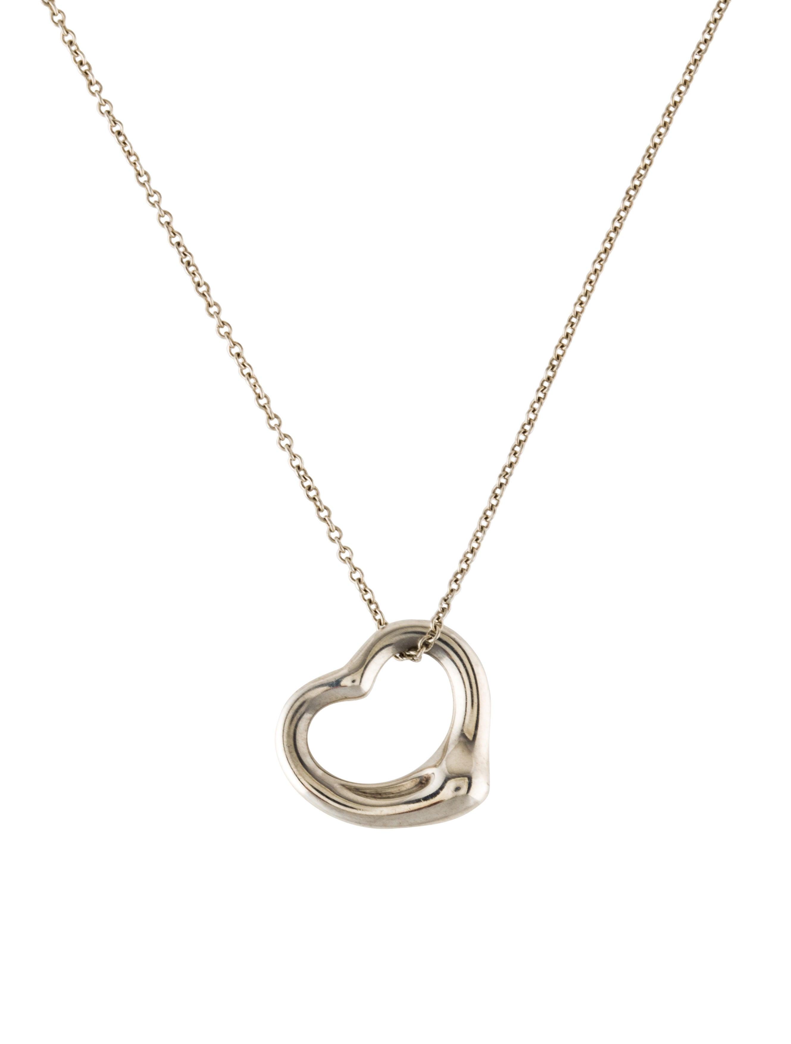 Tiffany co open heart pendant necklace necklaces tif65399 open heart pendant necklace aloadofball Gallery