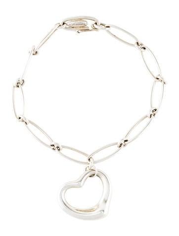 Tiffany & Co. Open Heart Charm Bracelet None