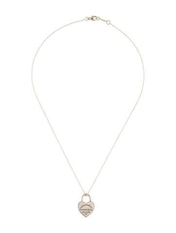 Tiffany co heart lock pendant necklace necklaces tif65785 heart lock pendant necklace aloadofball Gallery
