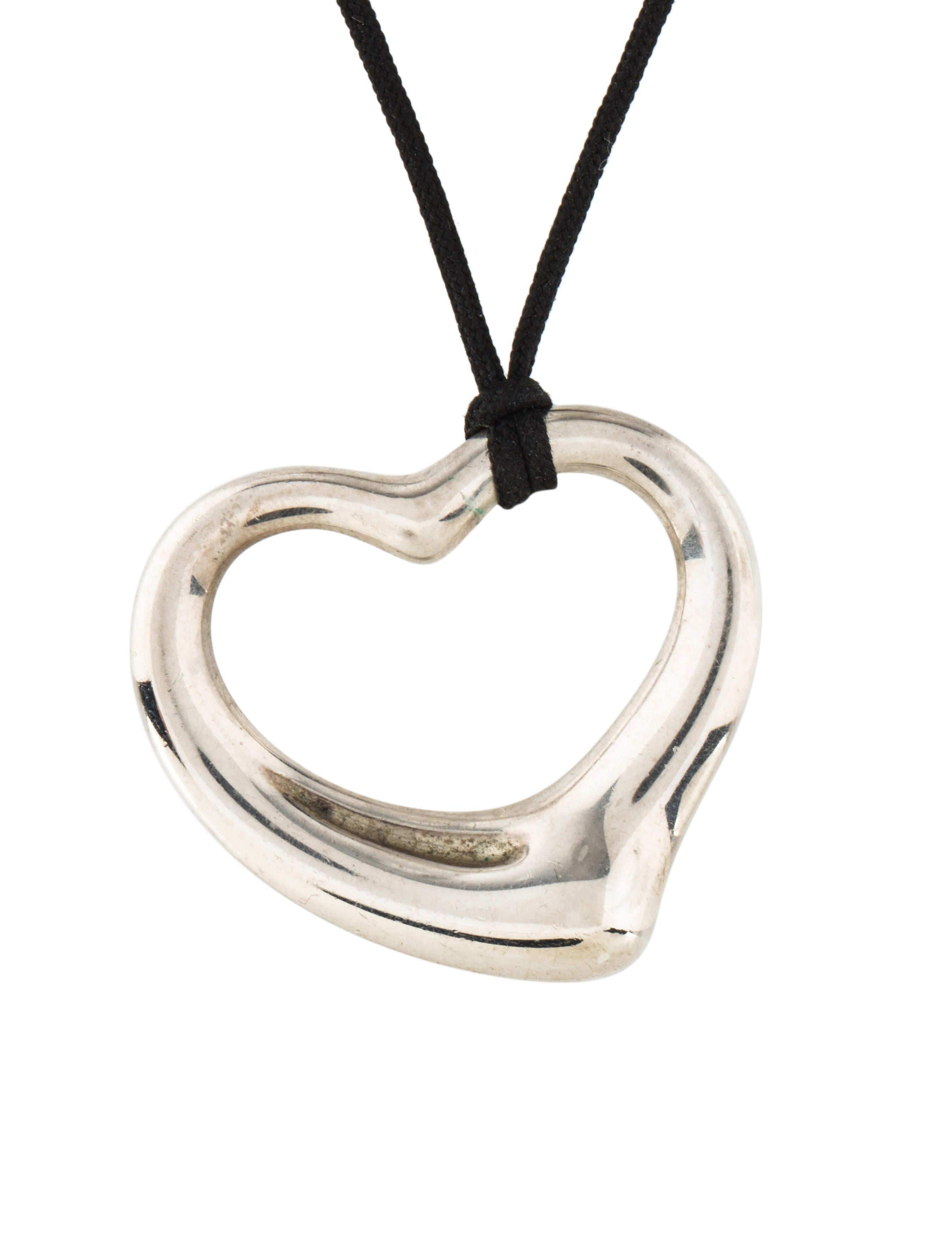sale silver open sterling zoom plated heart necklace simply rose gold
