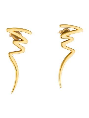 Tiffany co 18k scribble earrings earrings tif66125 for 66125 3