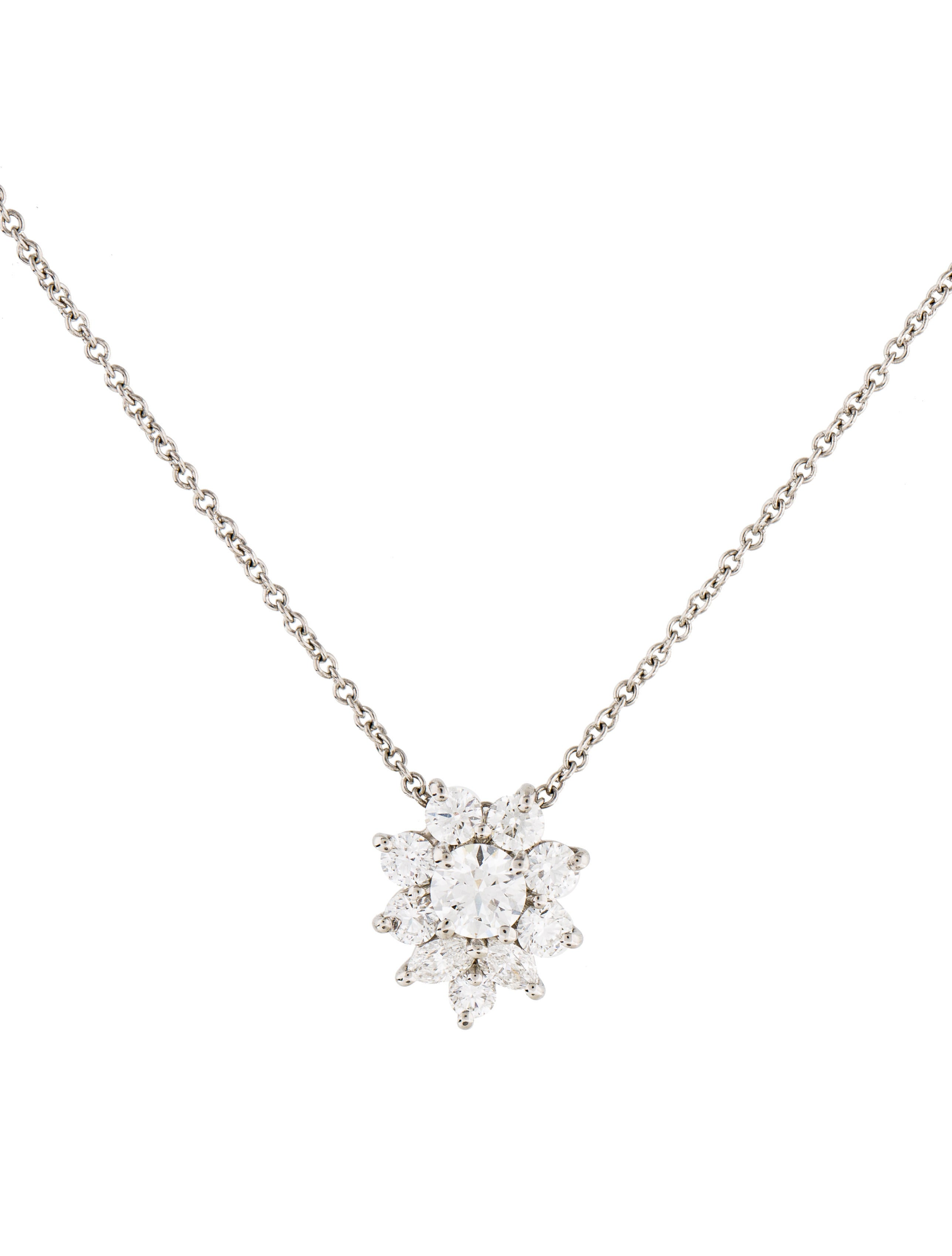 east west diamond pendant marquise necklace