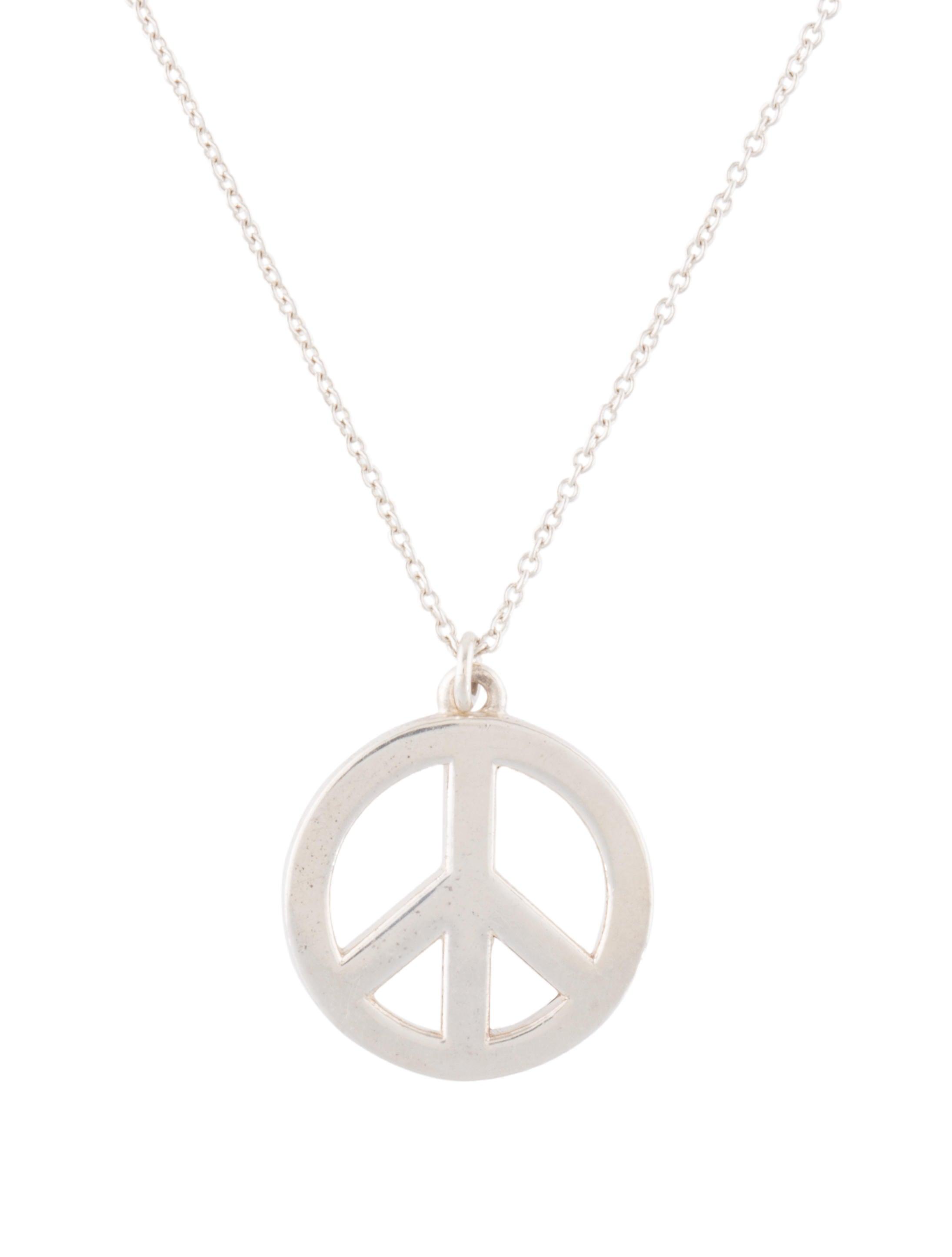 464a6d986 Tiffany & Co. Peace Sign Pendant Necklace - Necklaces - TIF66494 ...