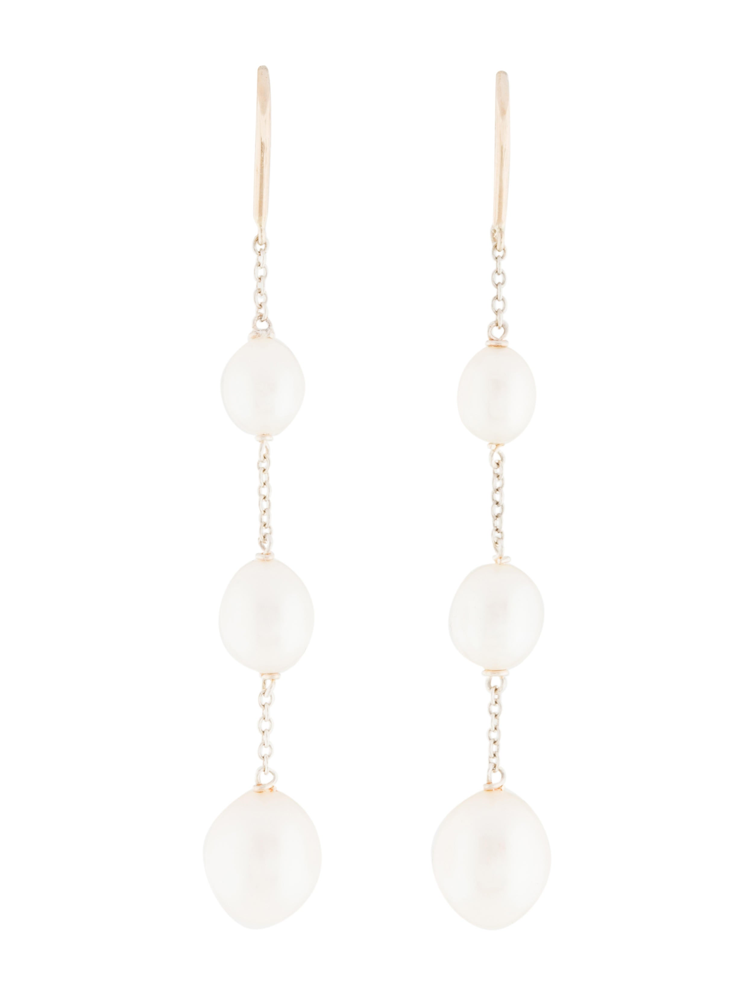 db124469c Tiffany & Co. Pearls by the Yard™ Chain Earrings - Earrings - TIF66506    The RealReal