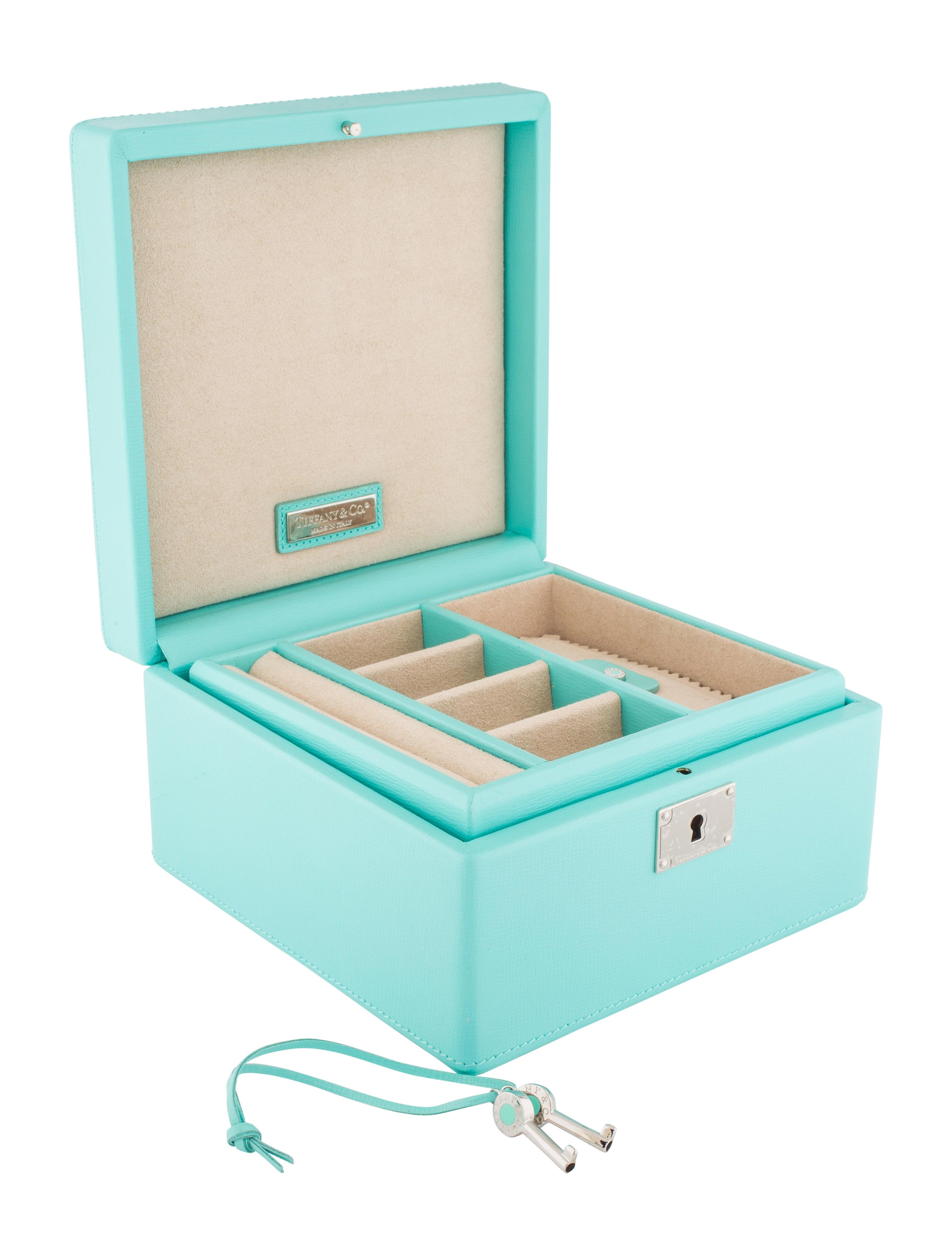 Tiffany Blue Leather Jewelry Box 1000 Jewelry Box