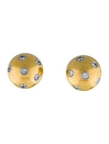 Product Name Tiffany Co Etoile Diamond Ball Earrings