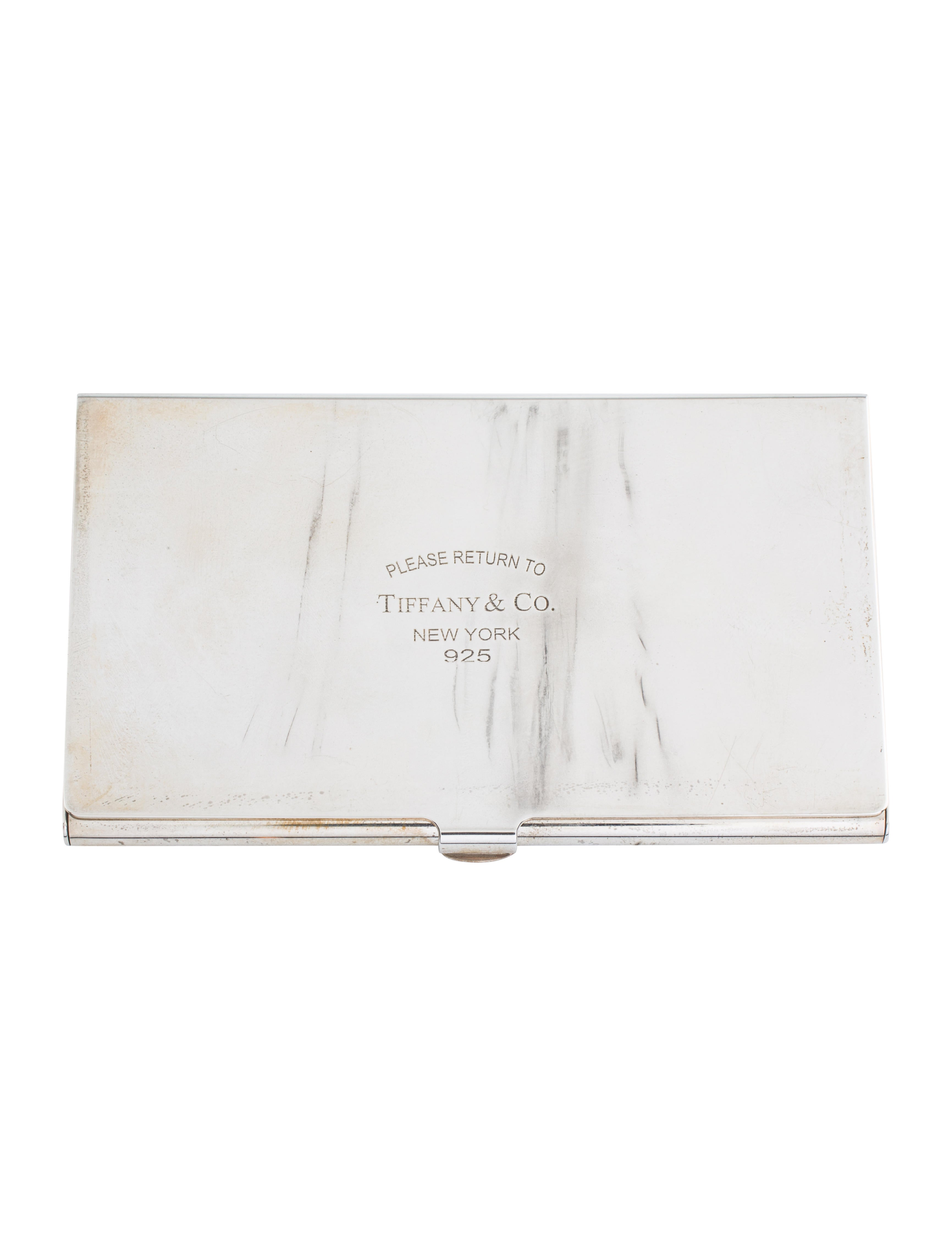 Tiffany co sterling business card holder decor and accessories sterling business card holder colourmoves