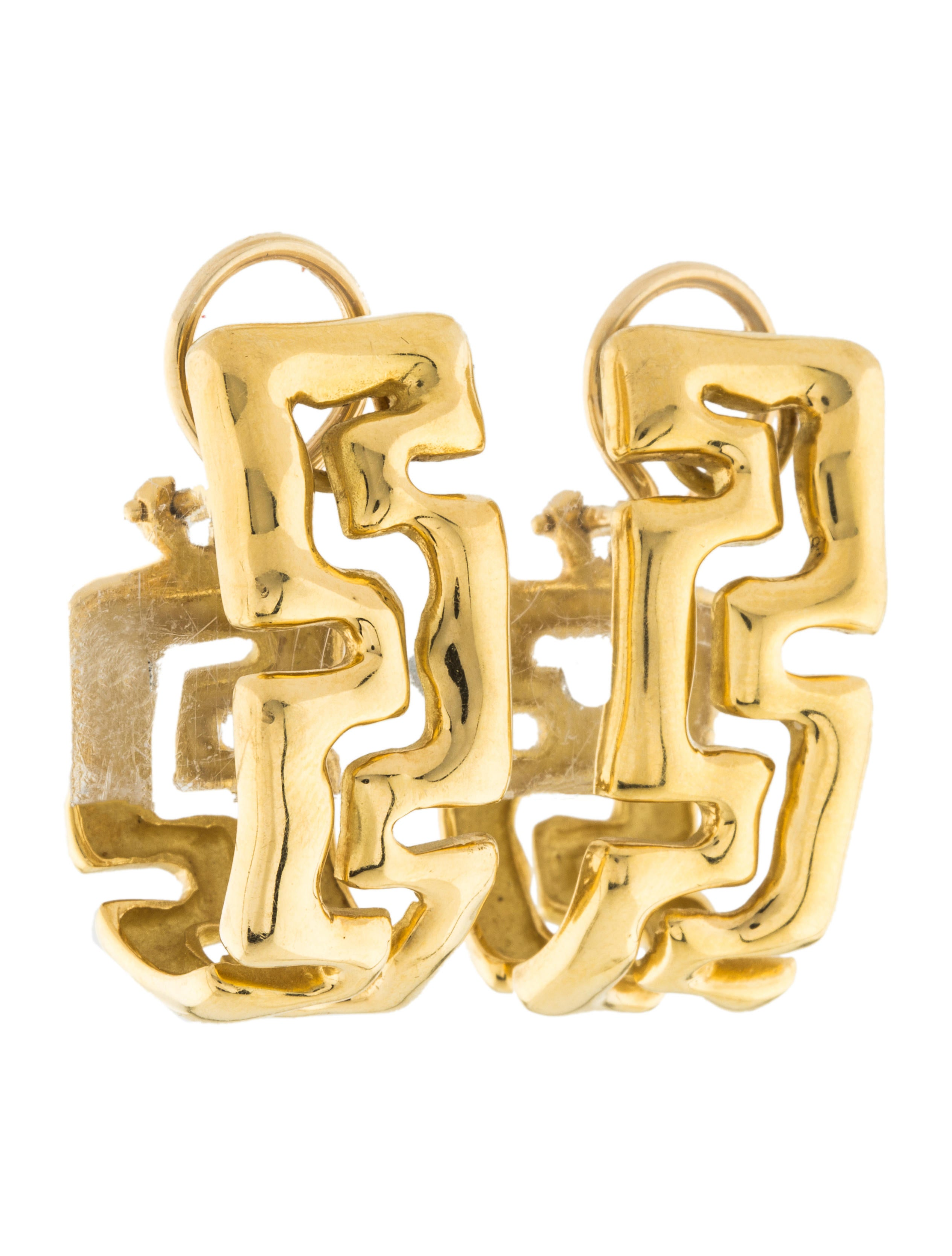 18k Greek Key Earrings