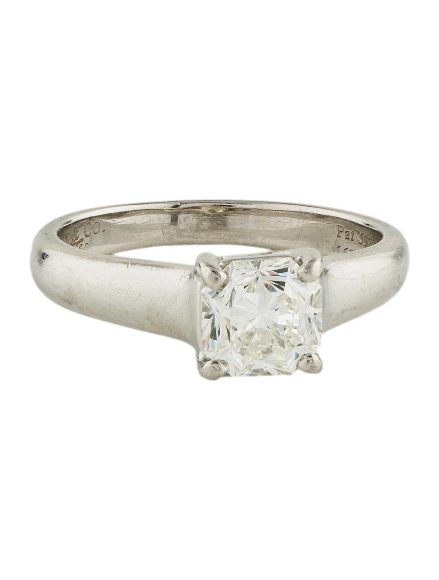 Tiffany Amp Co Platinum Lucida Diamond Solitaire Engagement