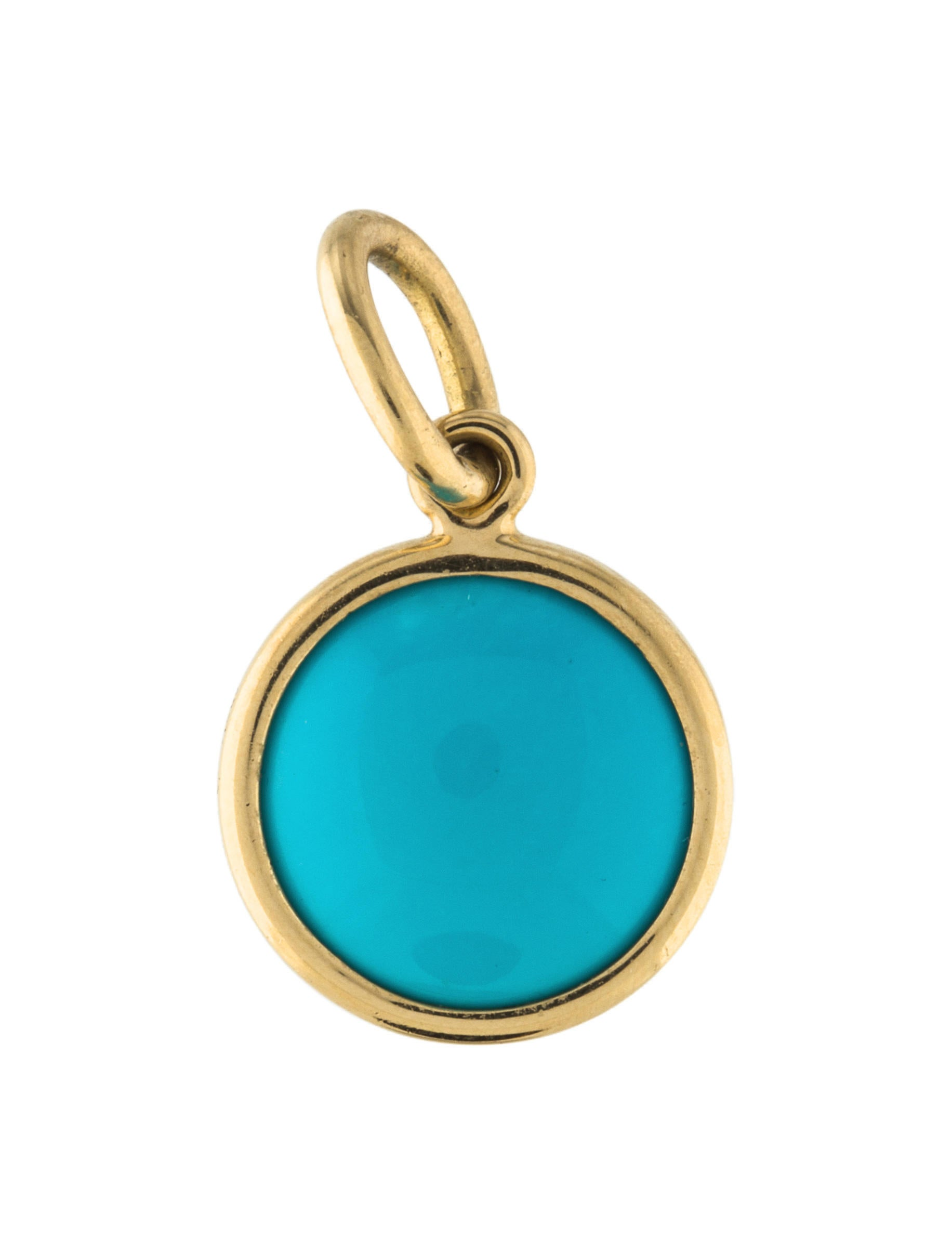 51c020c64 Tiffany & Co. 18K Turquoise Dot Charm - Charms - TIF68023   The RealReal