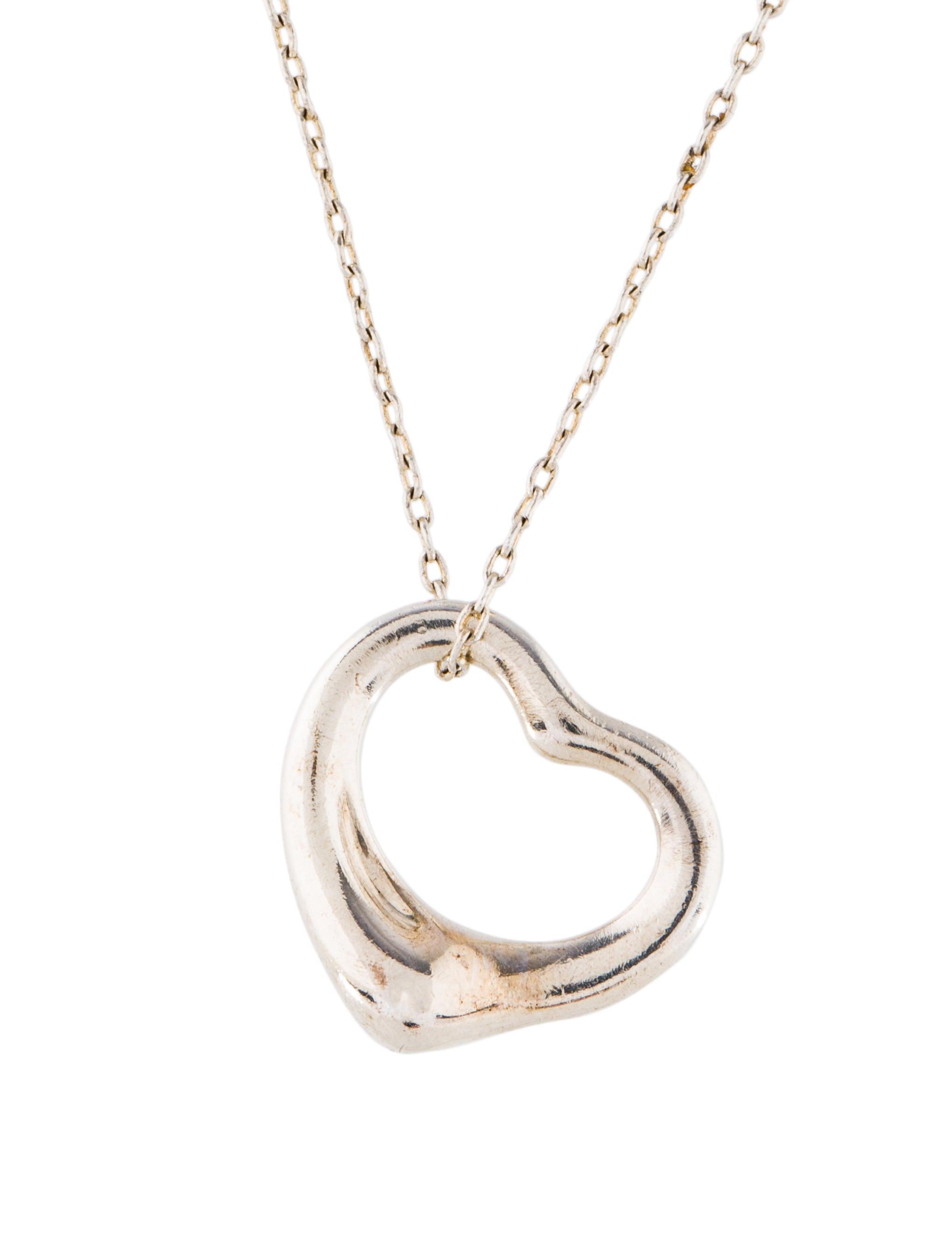 Tiffany co open heart pendant necklace necklaces tif68259 open heart pendant necklace aloadofball Gallery