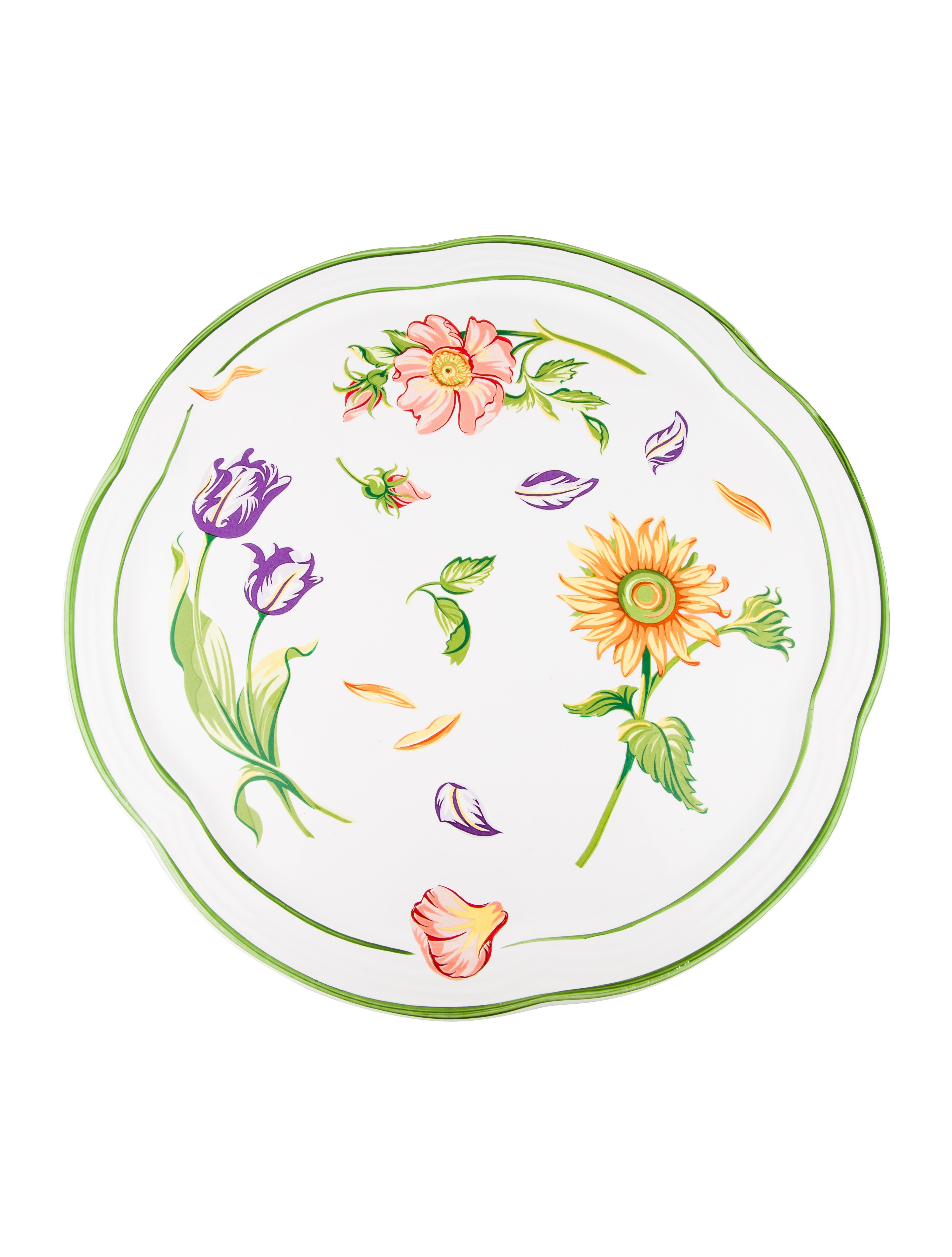 Tiffany Petals Cake Plate  sc 1 st  The RealReal & Tiffany \u0026 Co. Tiffany Petals Cake Plate - Tabletop And Kitchen ...